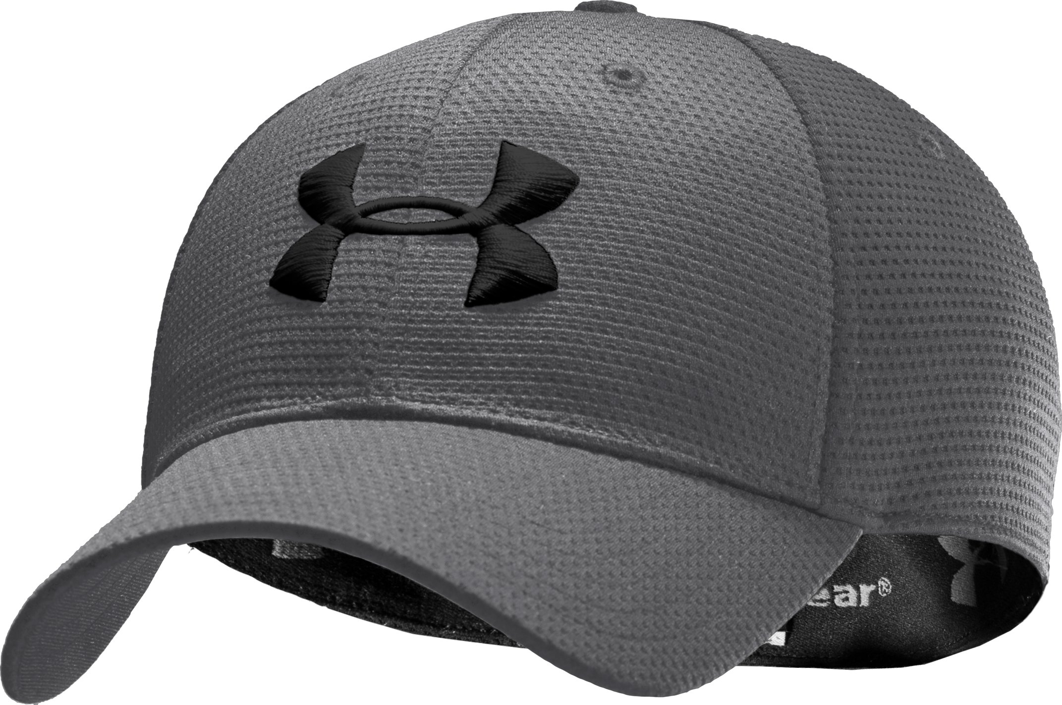 Boys' UA Blitzing Stretch Fit Cap, Graphite, zoomed image