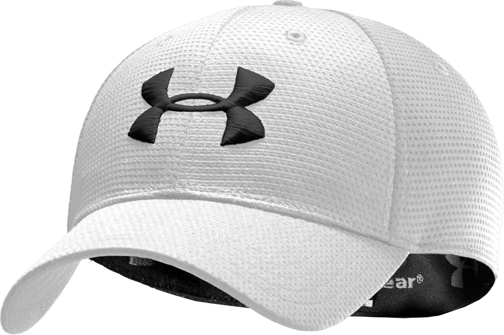 Boys' UA Blitzing Stretch Fit Cap, White, zoomed image