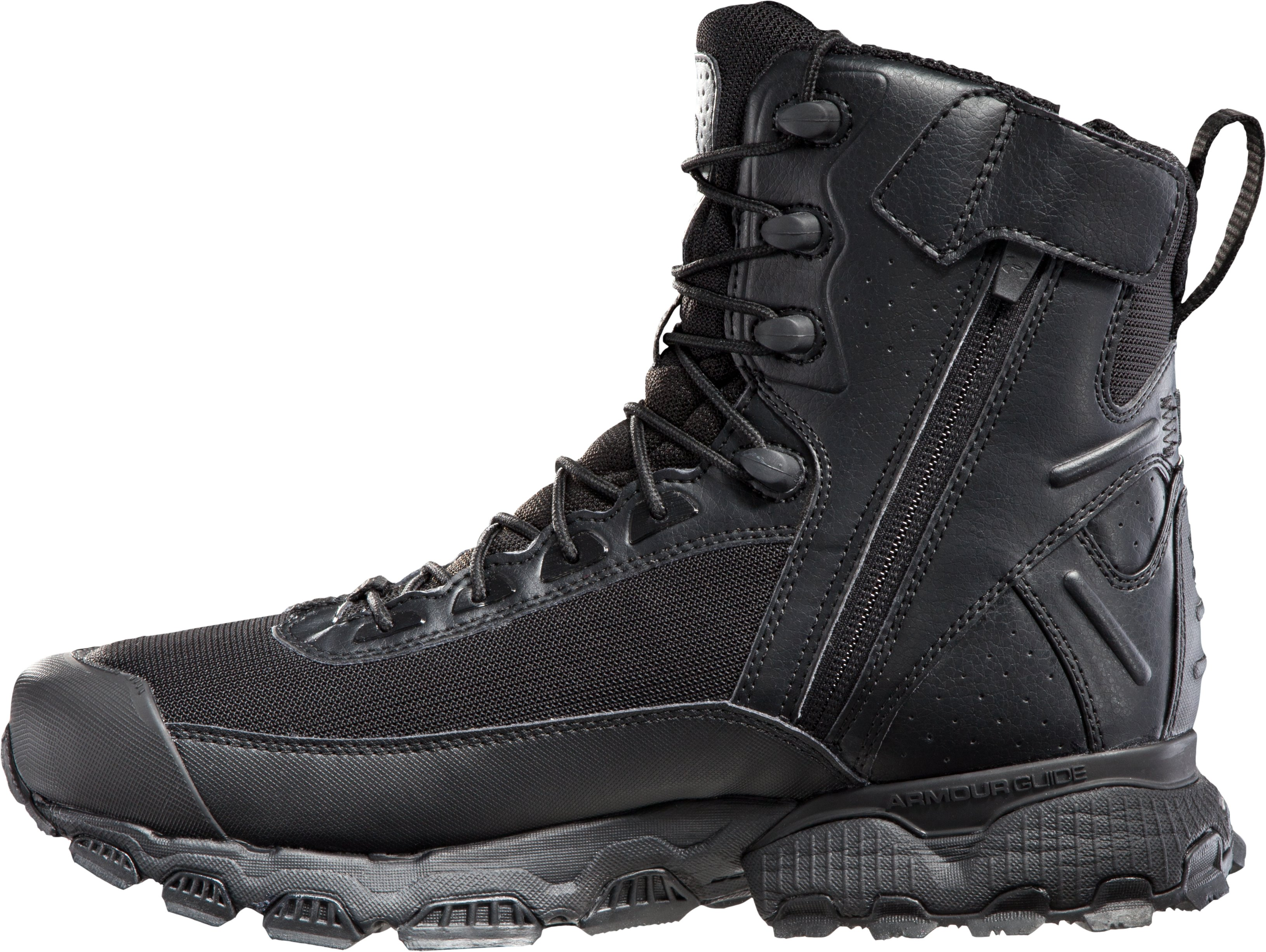 Men's UA Valsetz Side Zip Tactical Boots, Black , undefined