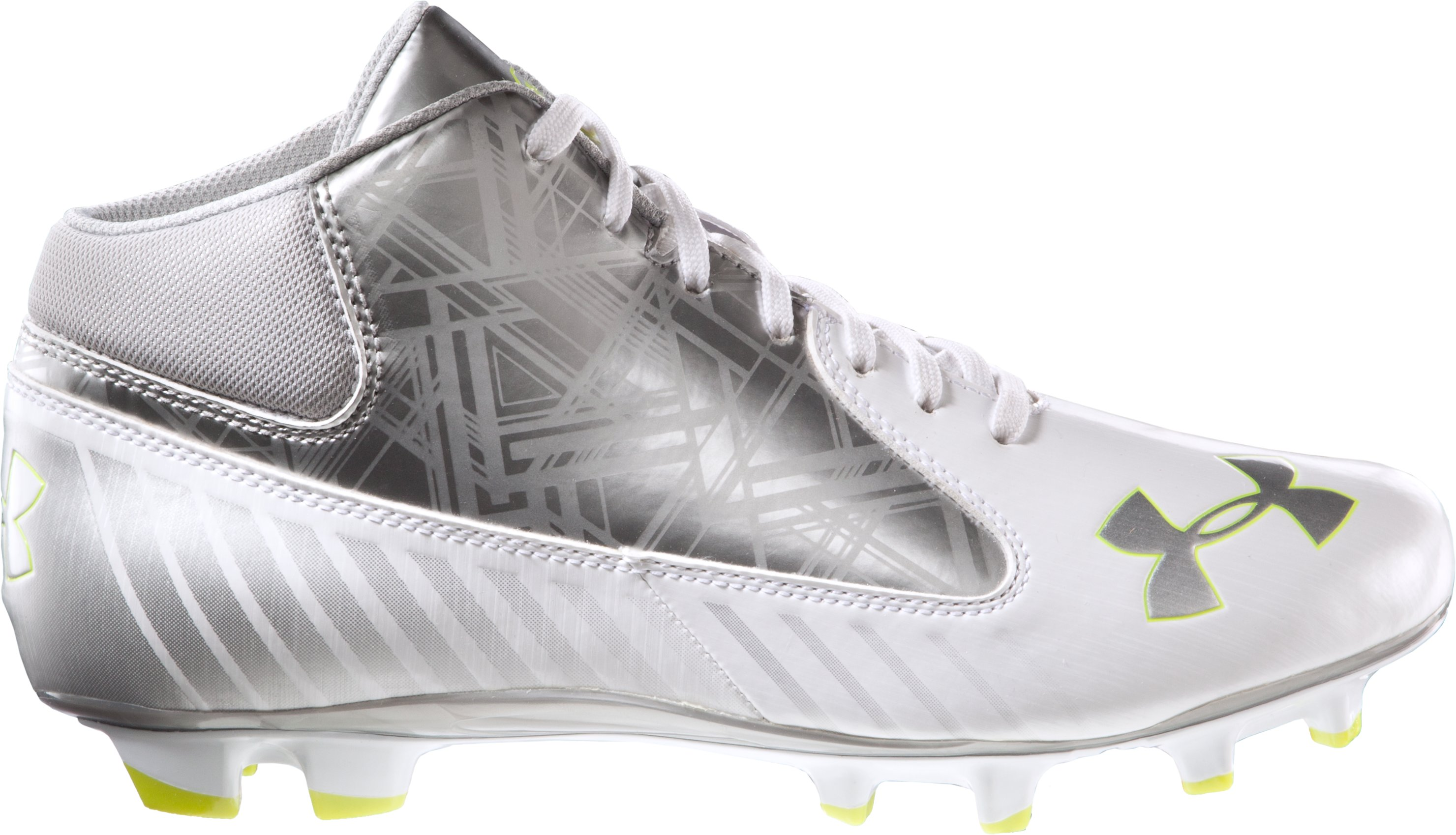 Men's UA Gauntlet Mid MC Lacrosse Cleats, White