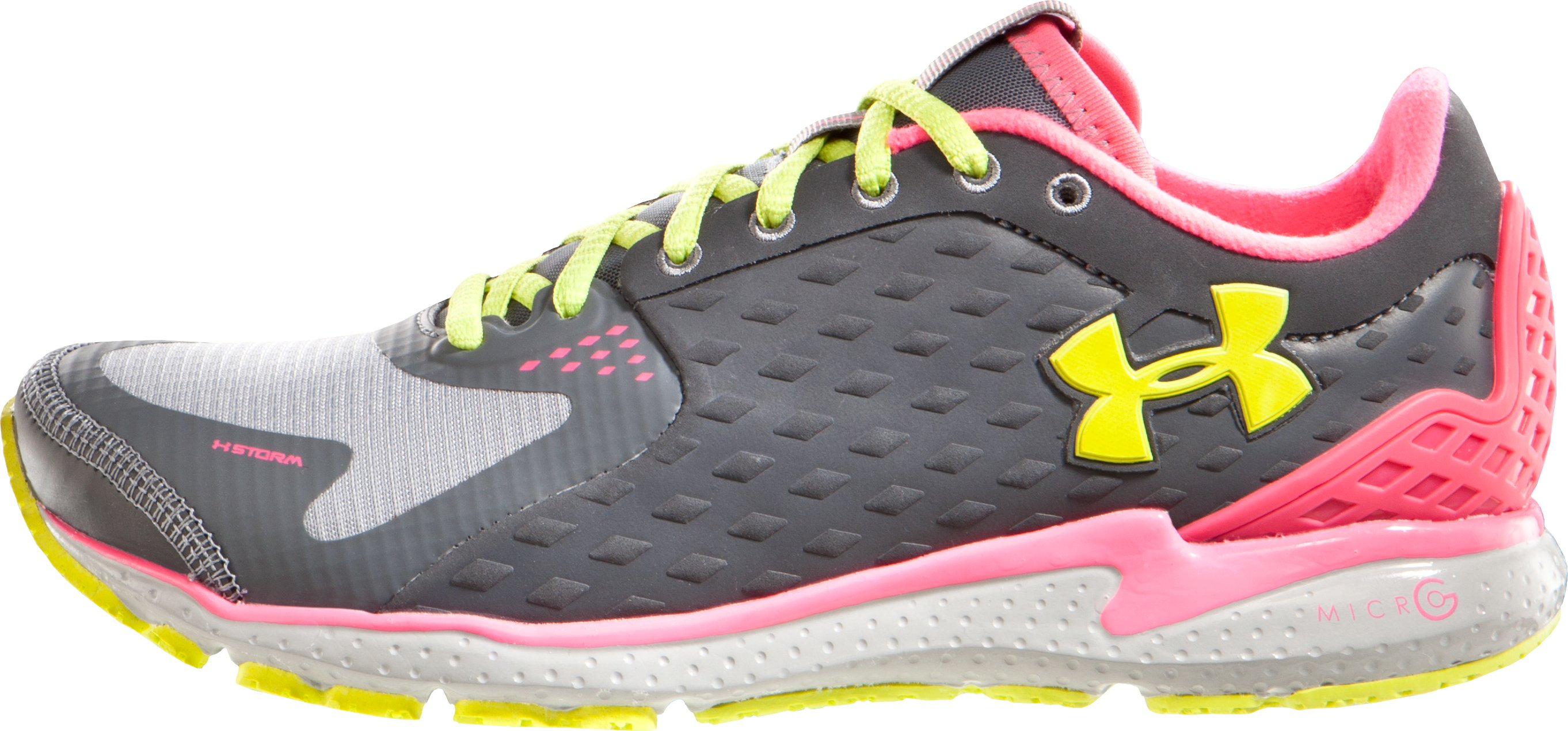 Women's UA Micro G® Storm Running Shoe, Charcoal, zoomed image