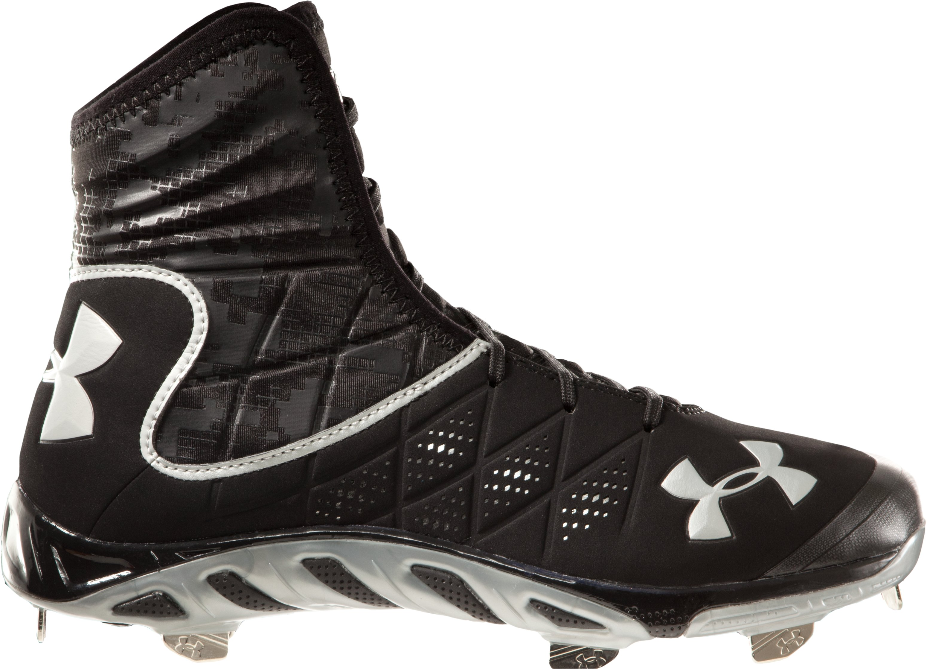 Men's UA Spine Highlight ST Baseball Cleats, Black , undefined