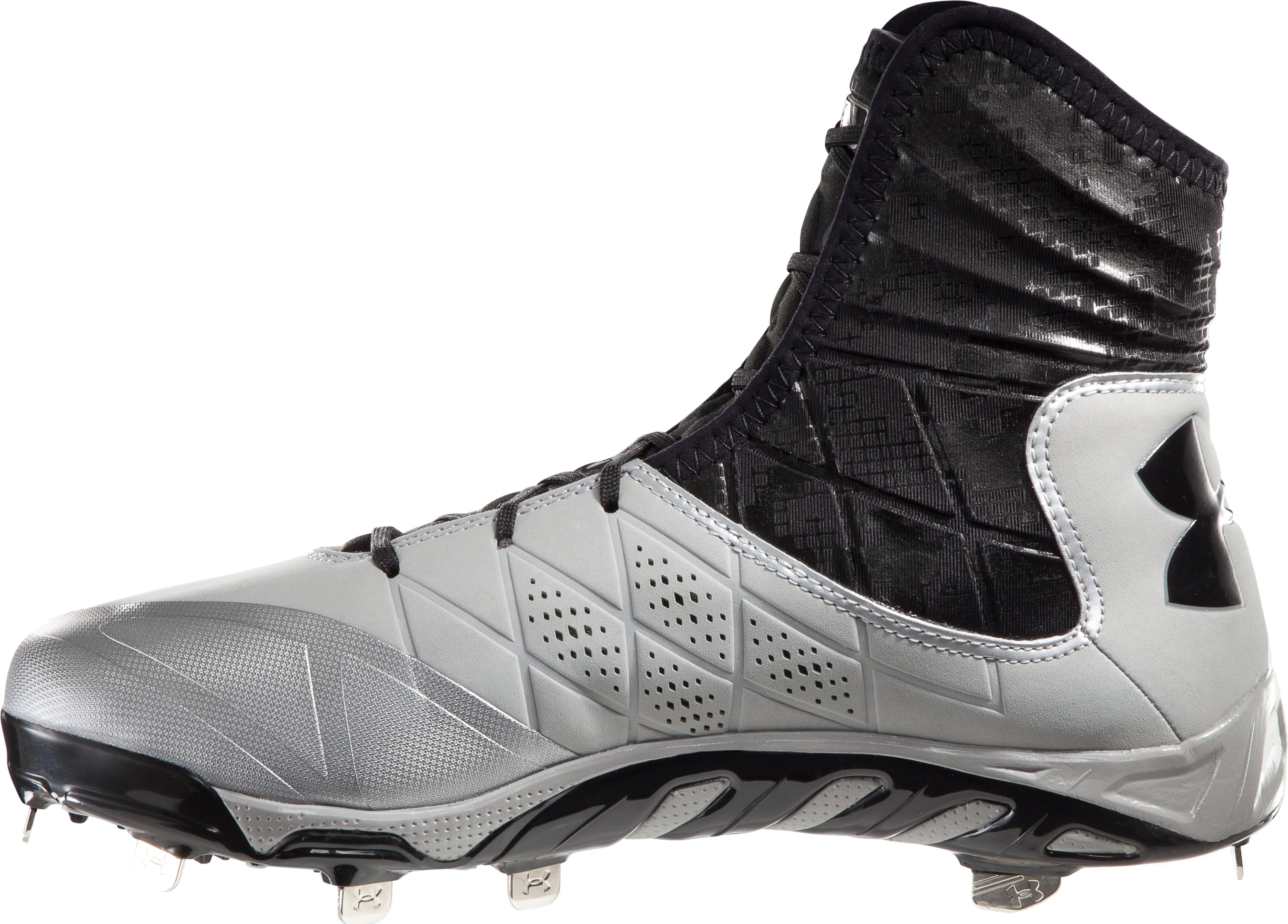 Men's UA Spine Highlight ST Baseball Cleats, Baseball Gray