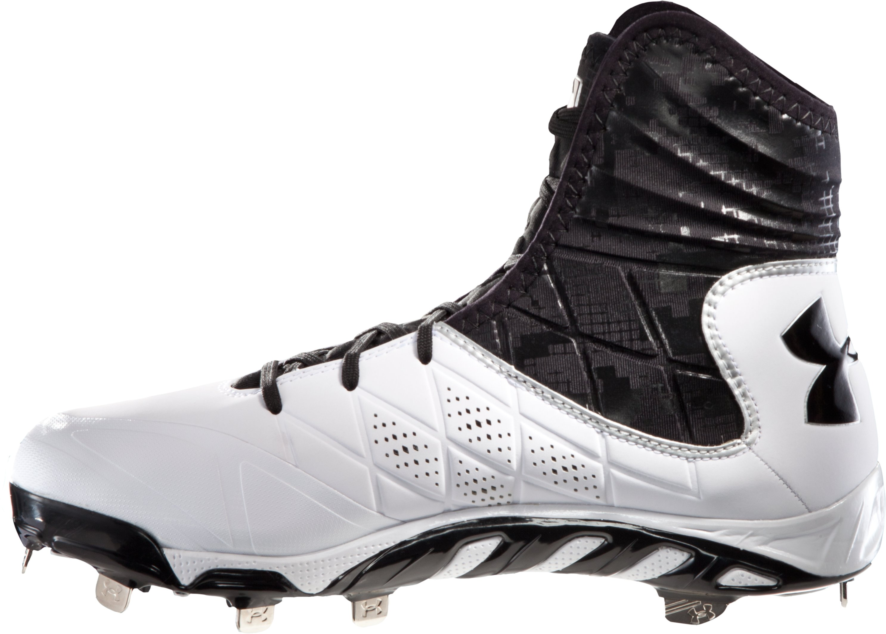 Men's UA Spine Highlight ST Baseball Cleats, White, undefined
