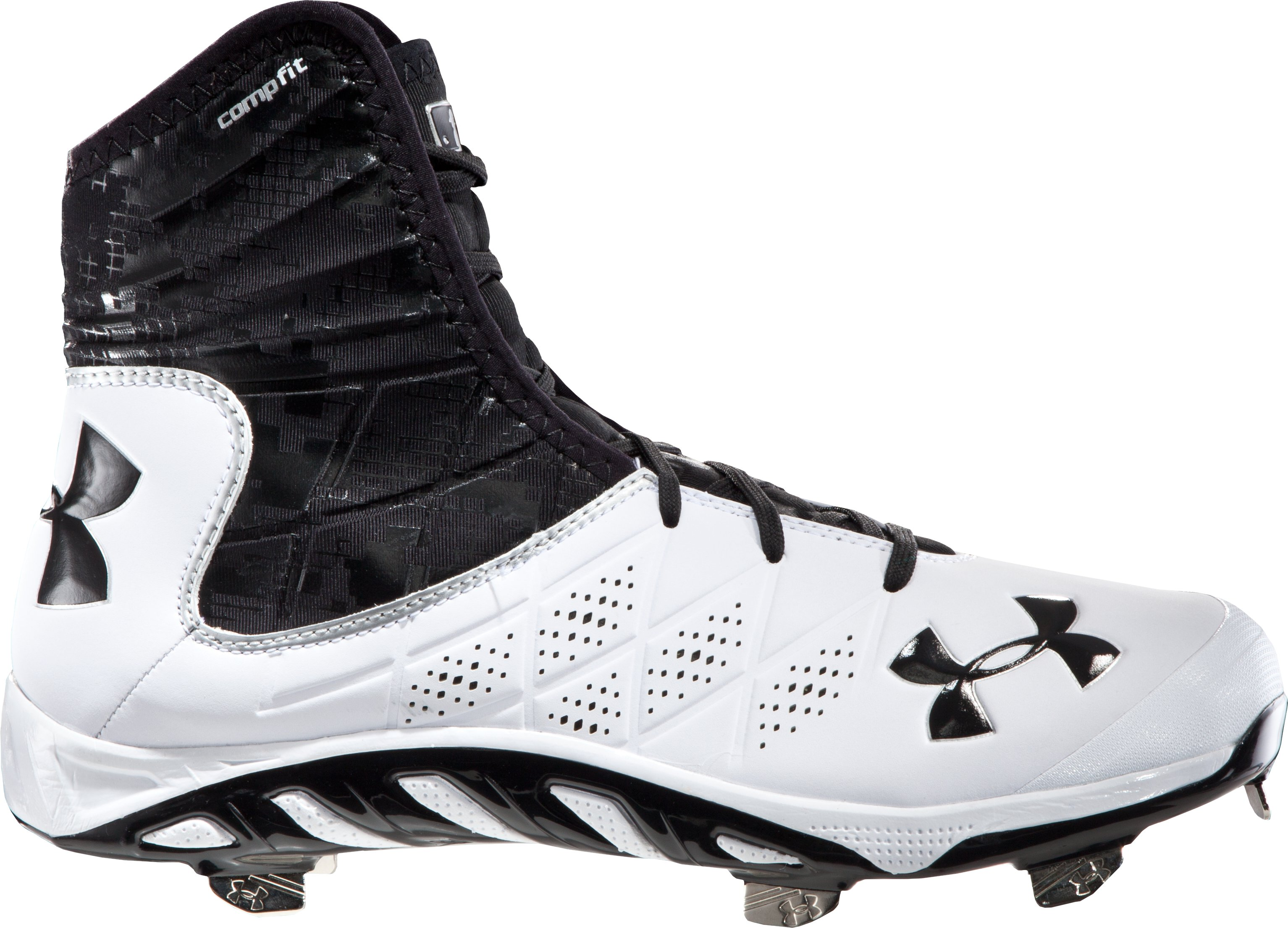 Men's UA Spine Highlight ST Baseball Cleats, White, zoomed image