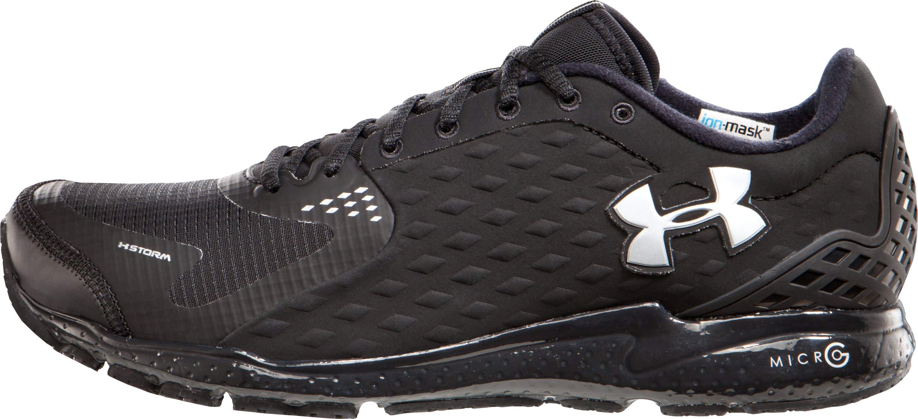 Men's UA Micro G® Storm Running Shoes, Black