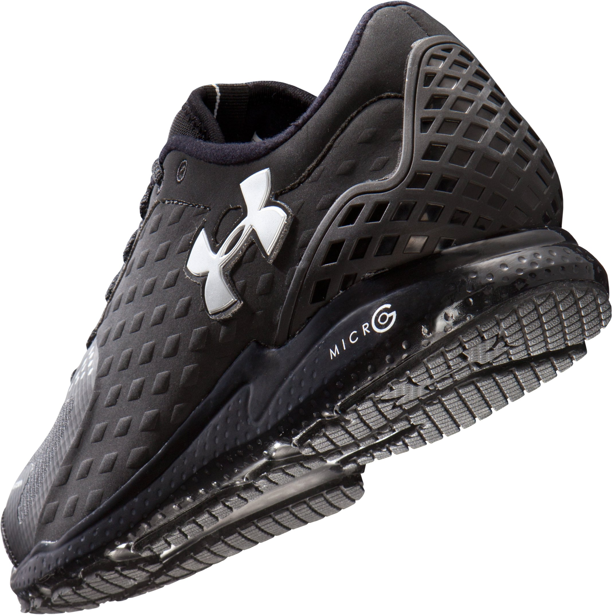 Men's UA Micro G® Storm Running Shoes, Black ,