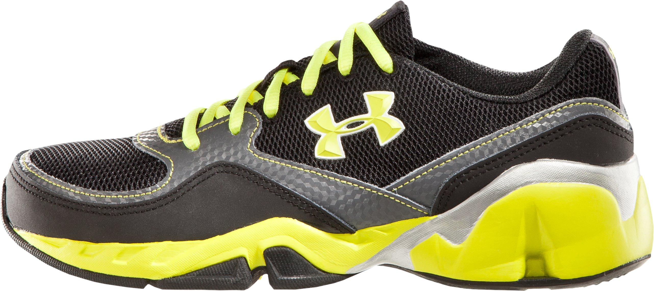 Boys' UA Strive II Glow Pre-School Training Shoes, Black , zoomed image