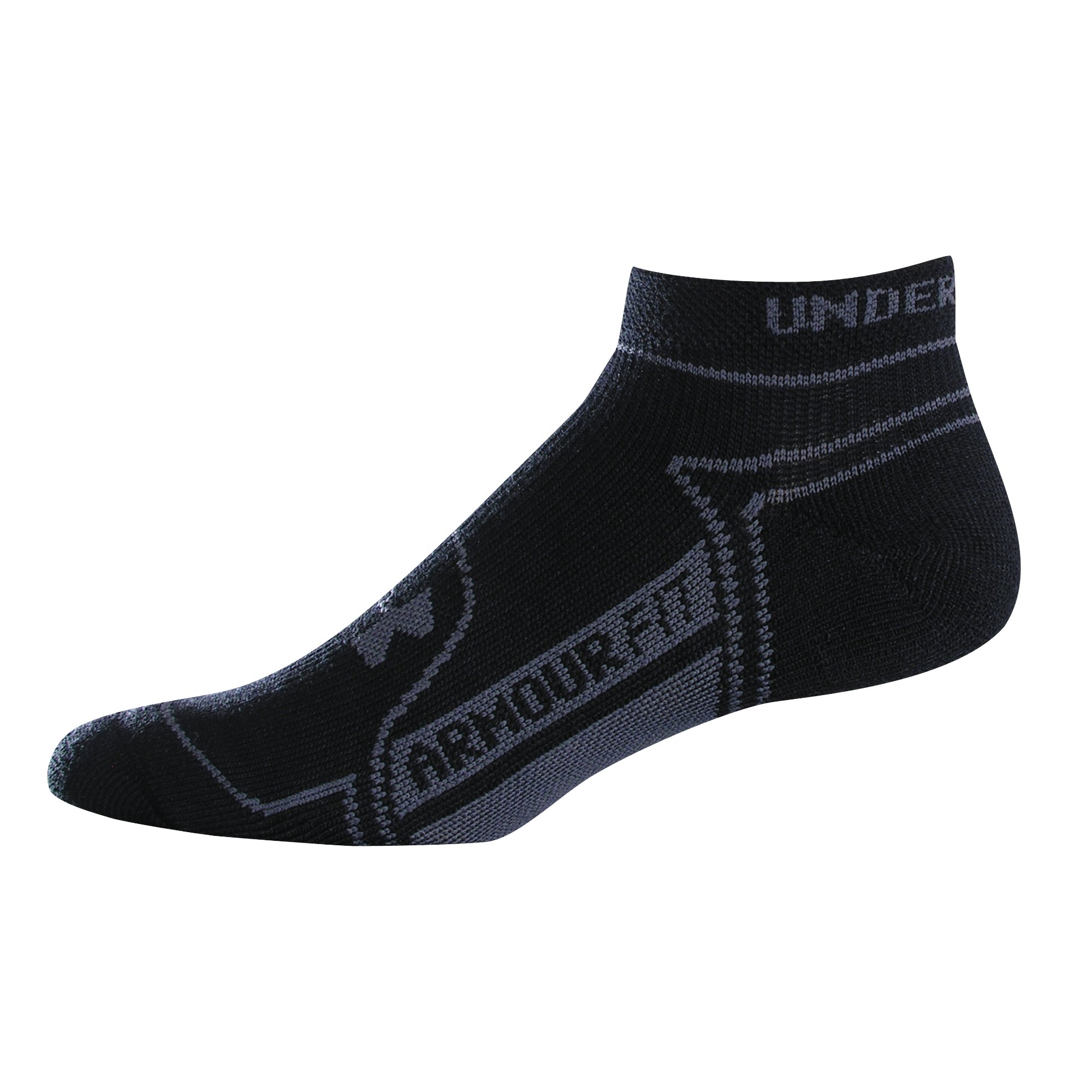 Men's UA Rival No Show Socks 2-Pack, Black