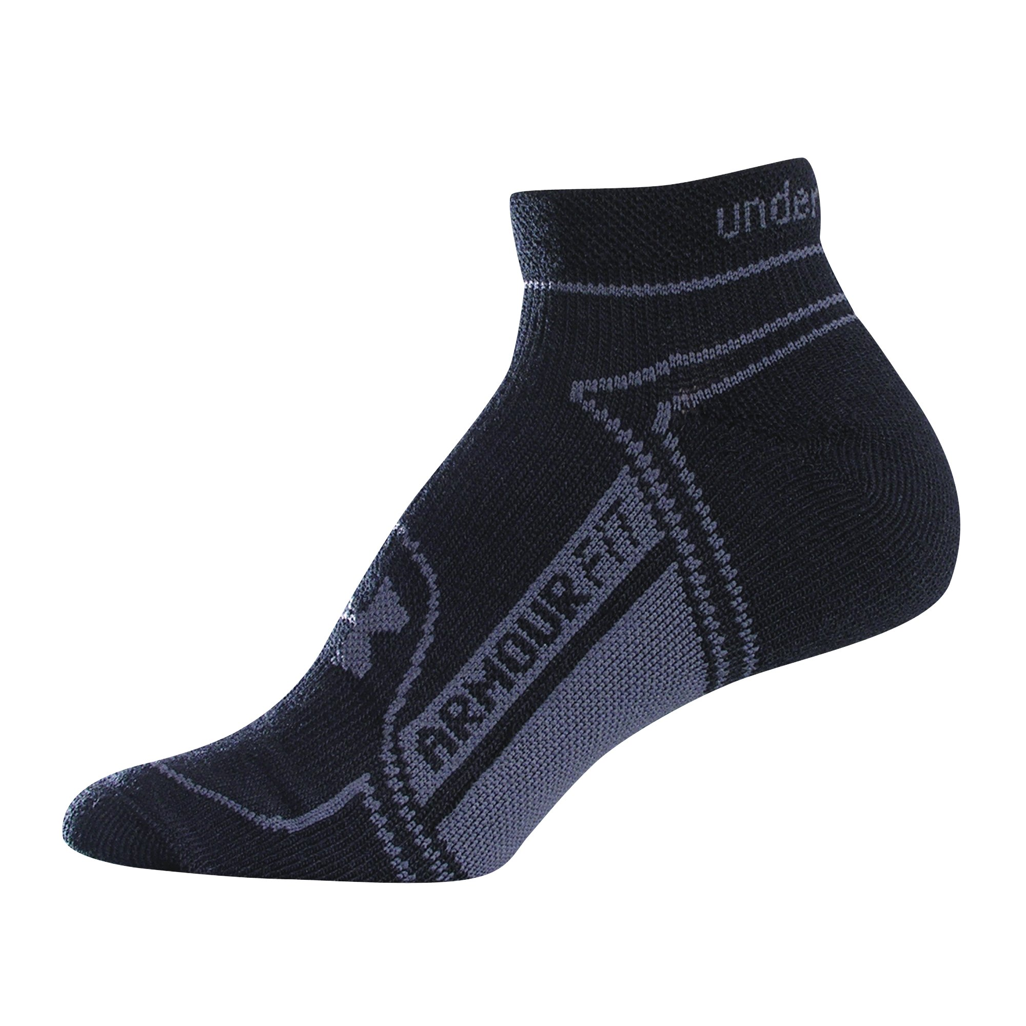 Women's Rush No Show Socks 2-Pack, Black , zoomed image