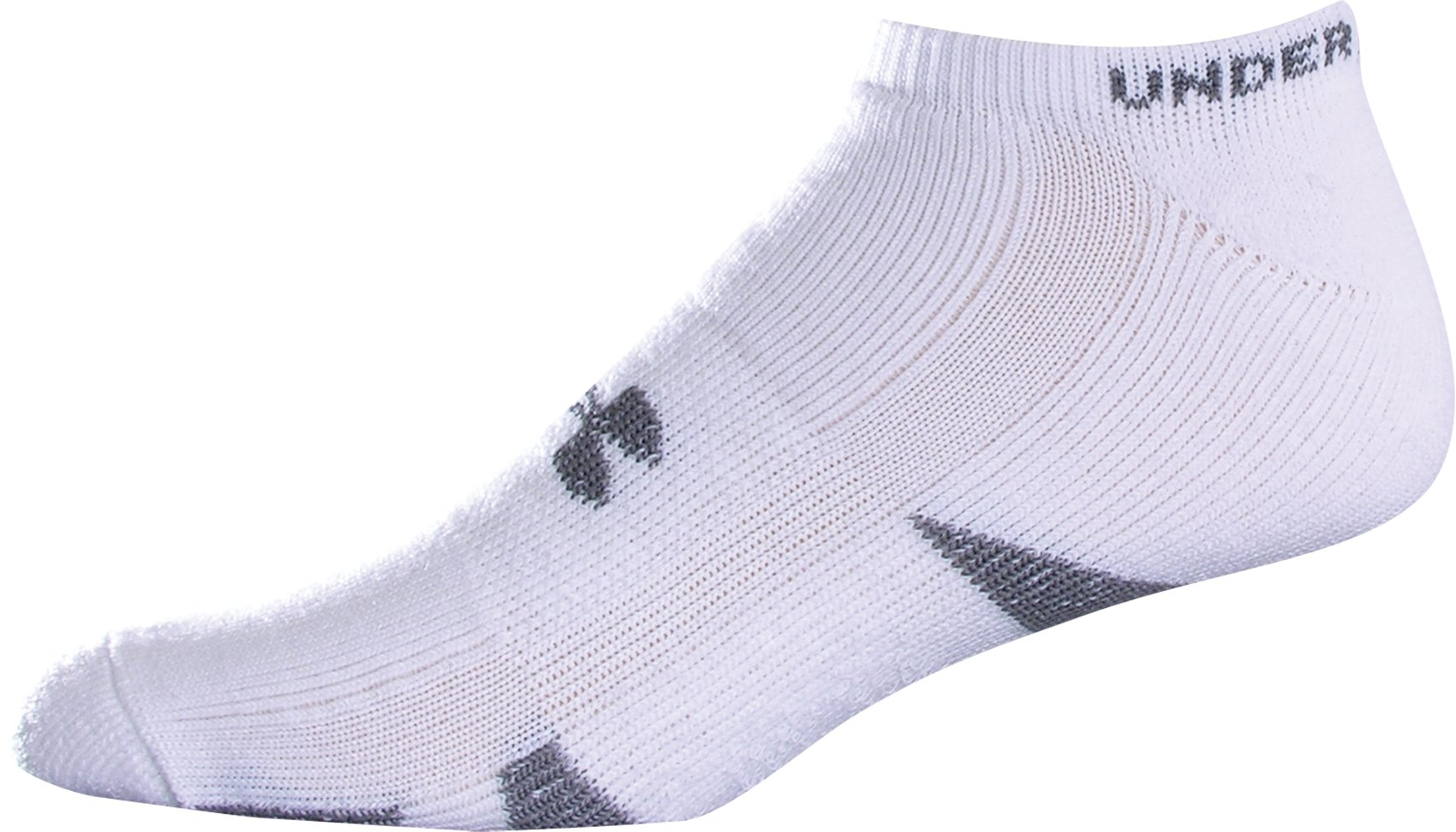 HeatGear® Trainer No Show Socks 4-Pack, White