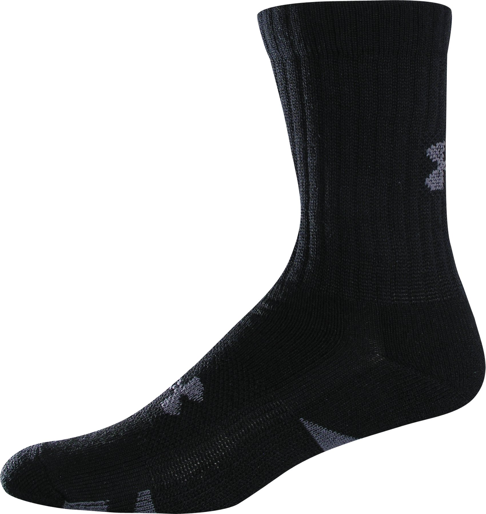 HeatGear® Trainer Crew Socks 4-Pack, Black , zoomed image