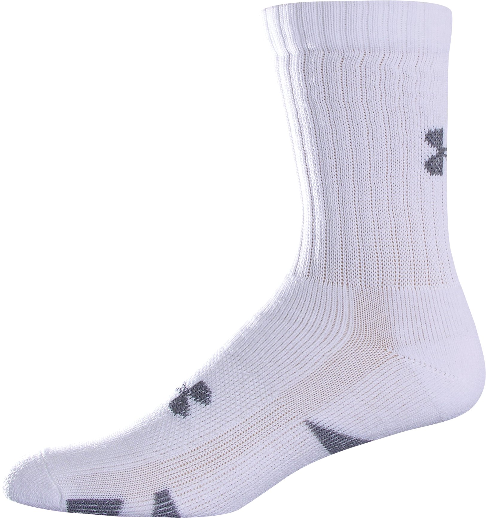 HeatGear® Trainer Crew Socks 4-Pack, White, undefined