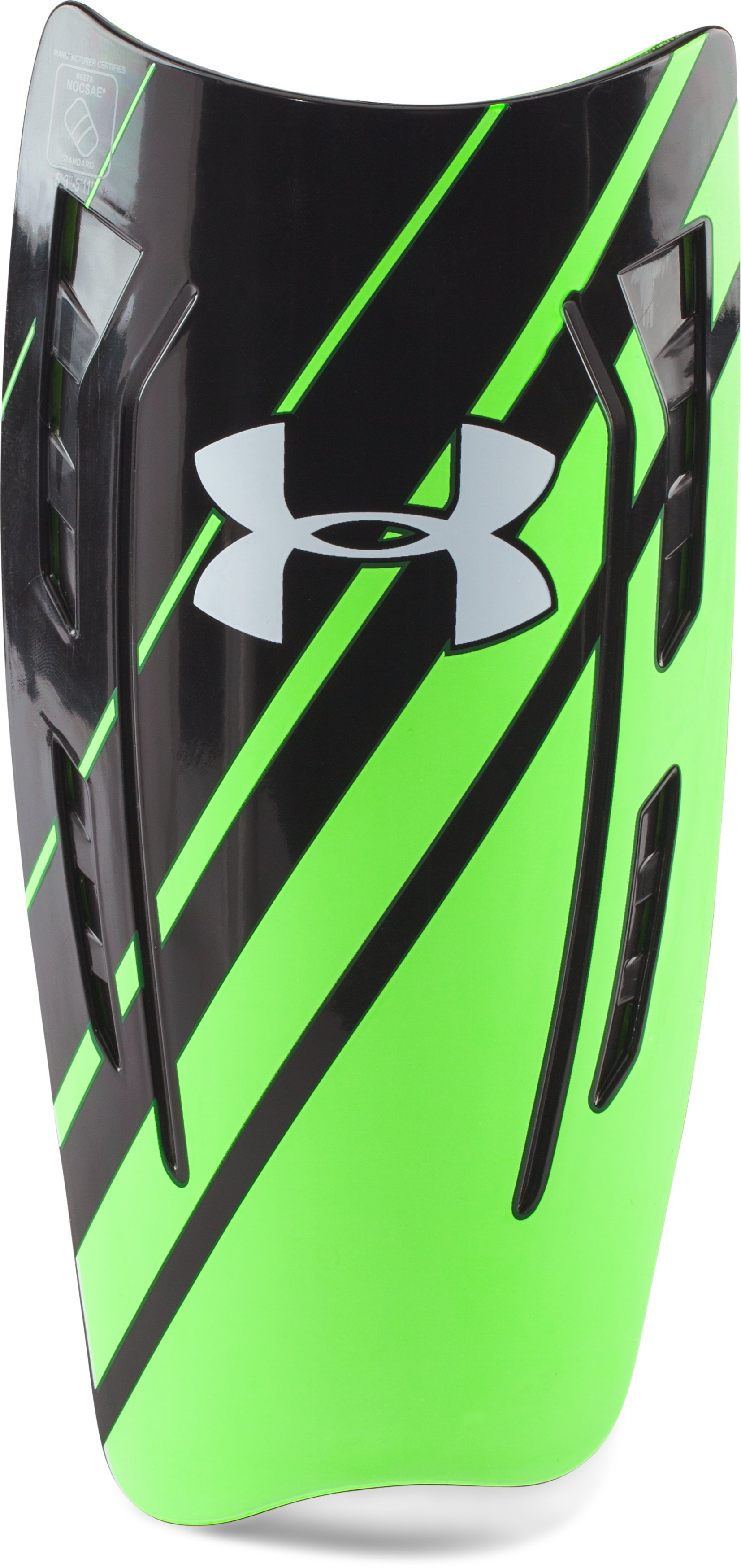 UA One Touch Shin Guards, Black ,