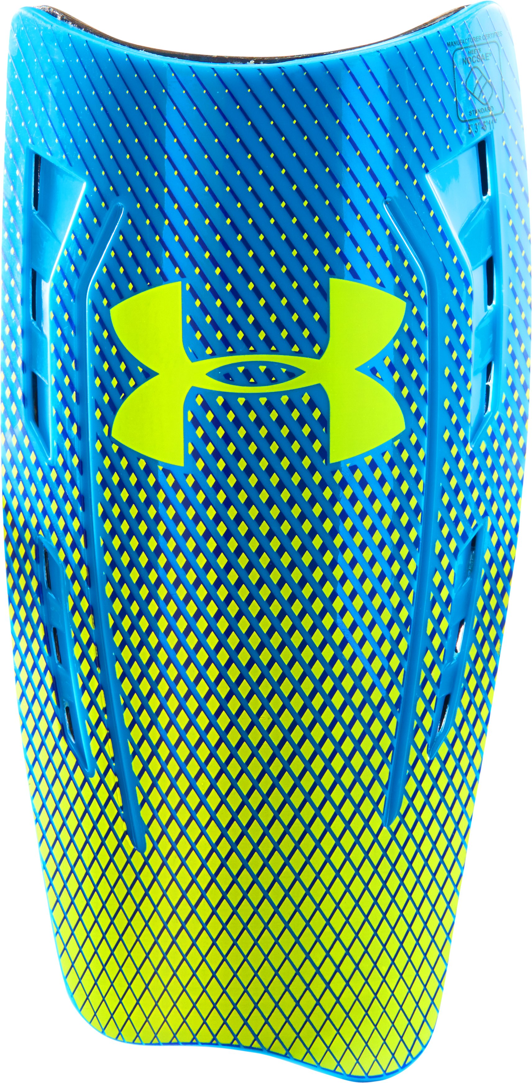 UA One Touch Shinguards, ELECTRIC BLUE, zoomed image