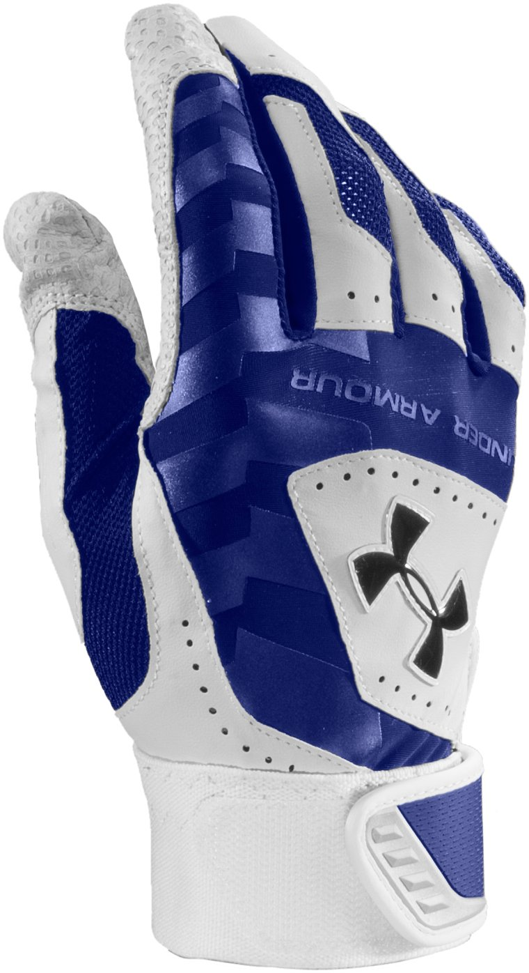 Kids' UA Yard Batting Gloves, Royal, zoomed image