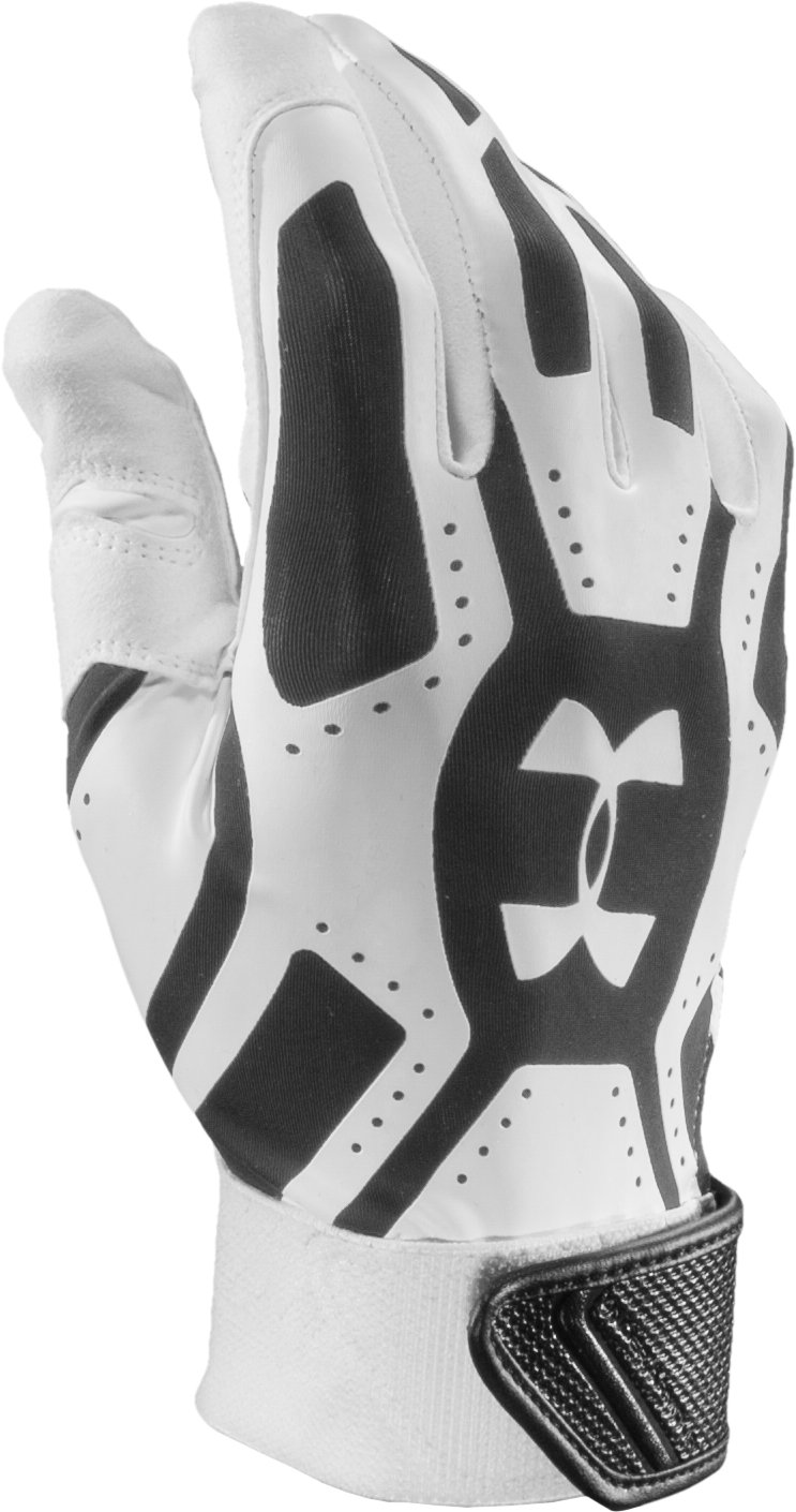 Men's UA Motive Baseball Gloves, White, zoomed image