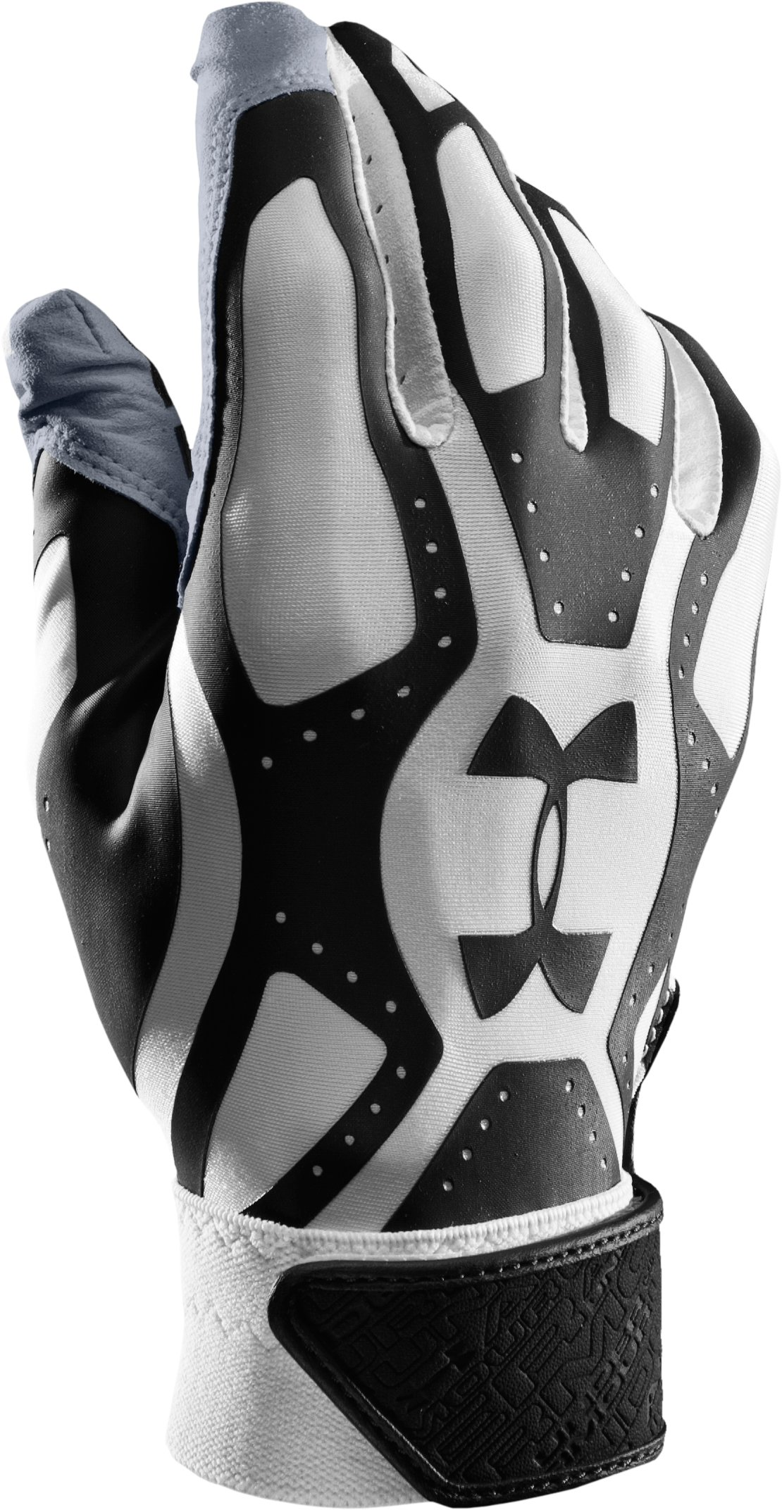 Boys' UA Motive Baseball Gloves, Black , zoomed image