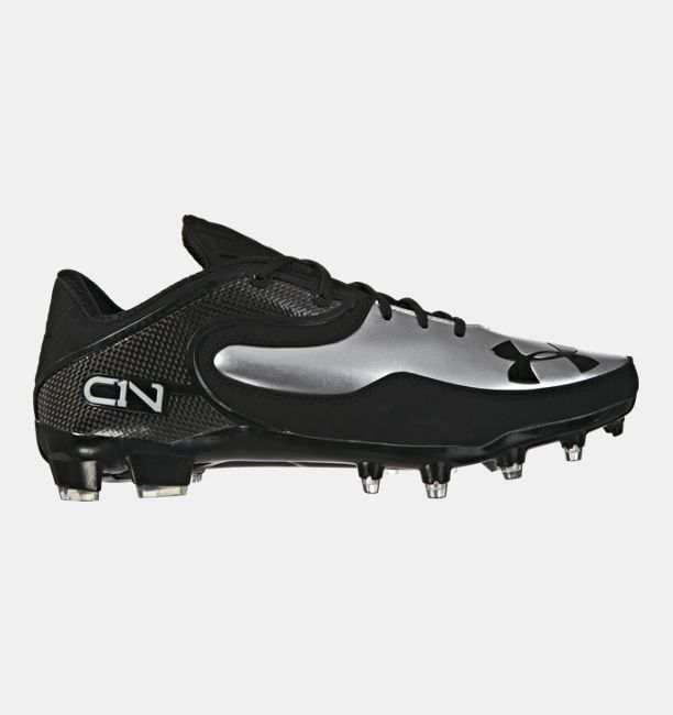 Mens UA Cam Low Football Cleats Black
