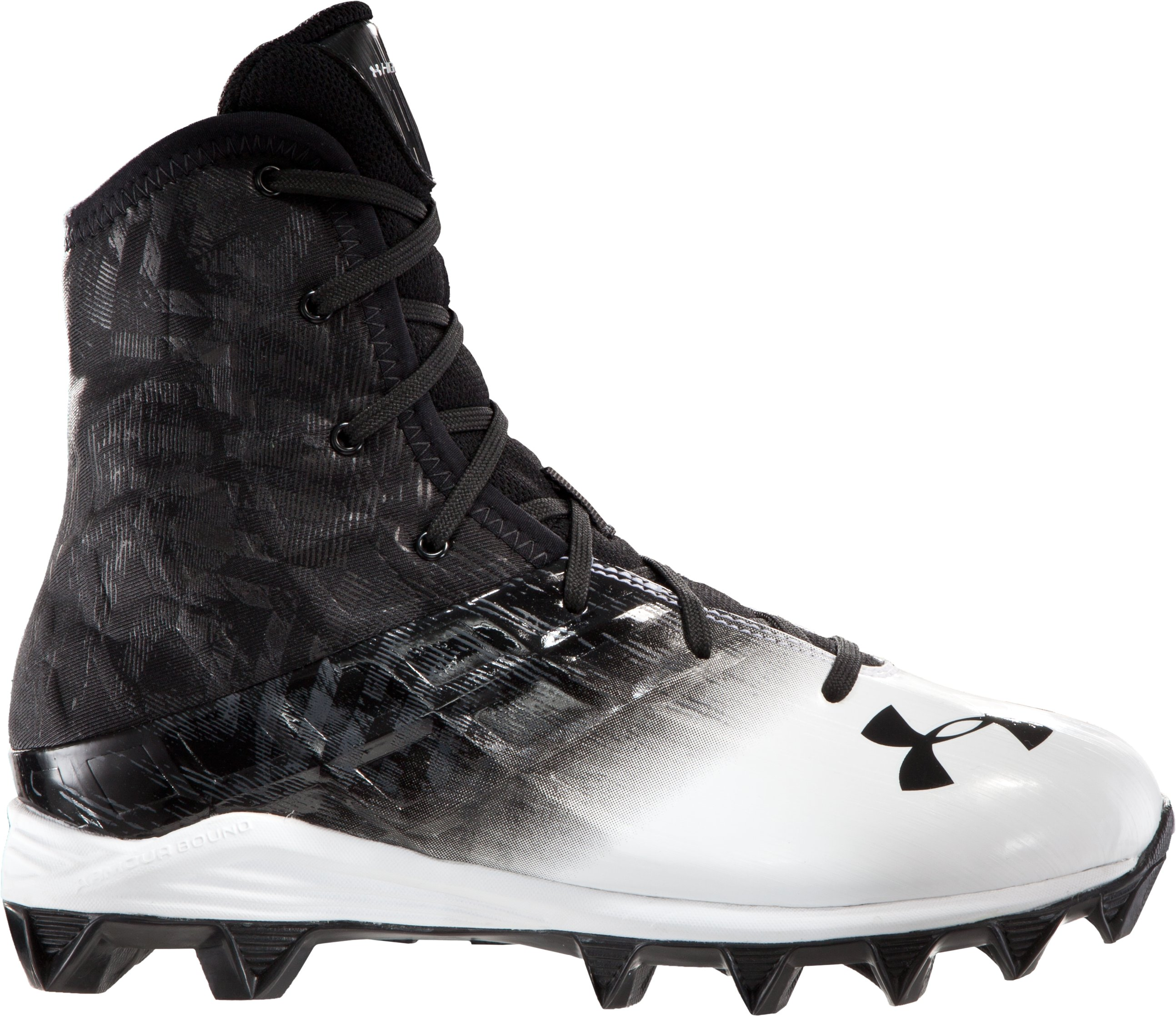 Boys' UA Highlight RM Cleats, Black , zoomed image