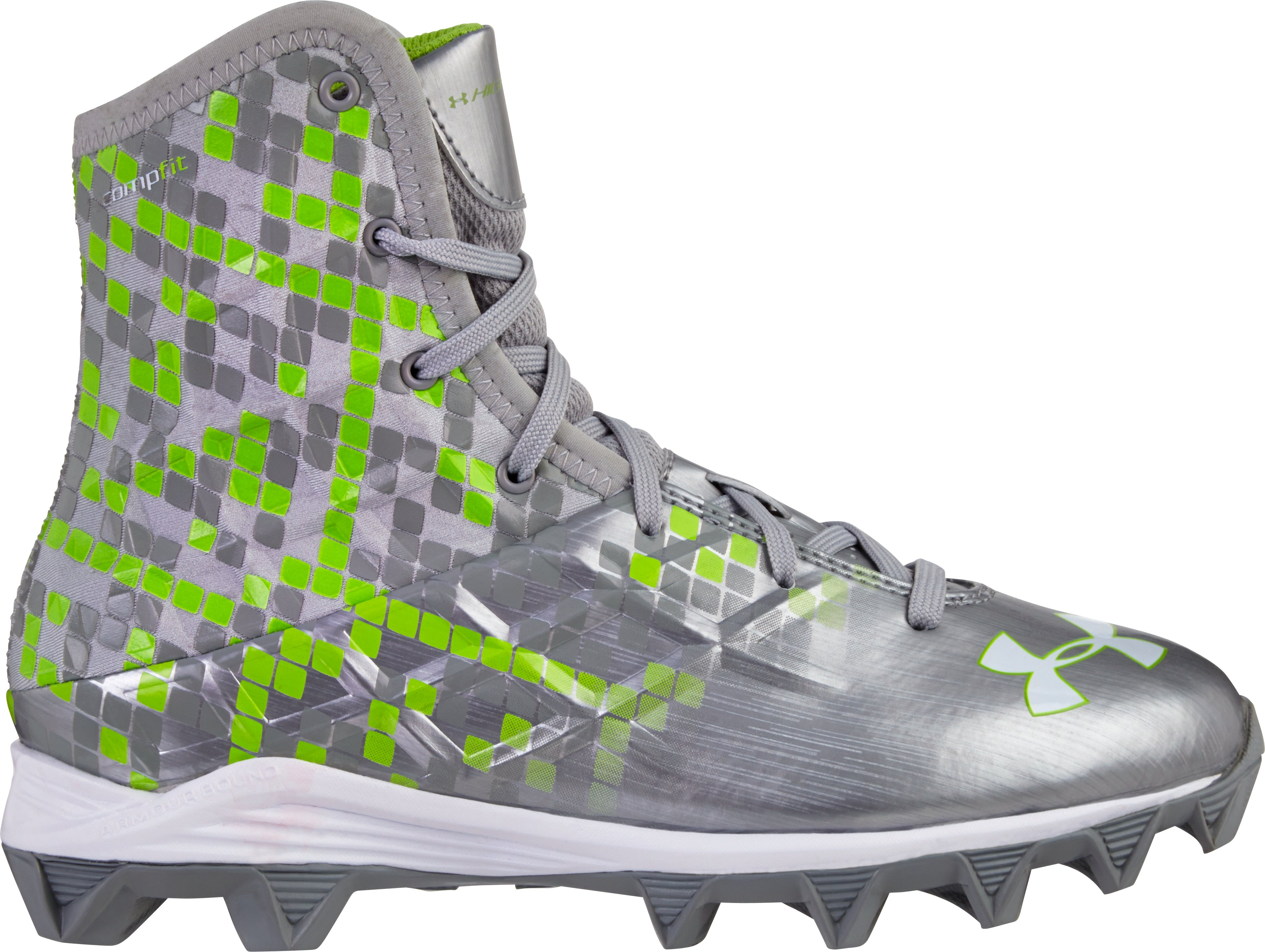 Boys' UA Highlight RM Cleats, Metallic Silver