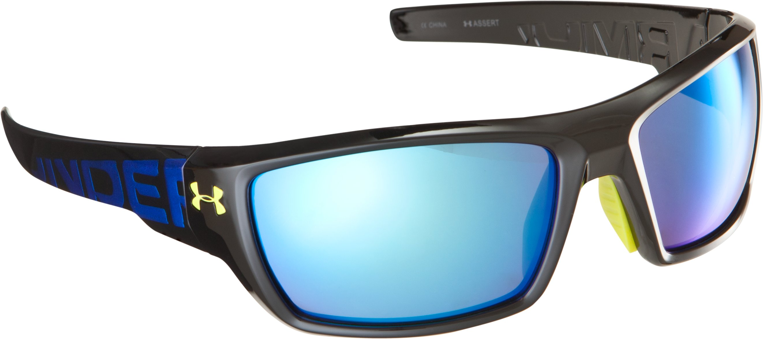 UA Assert Multiflection™ Sunglasses, Shiny Black
