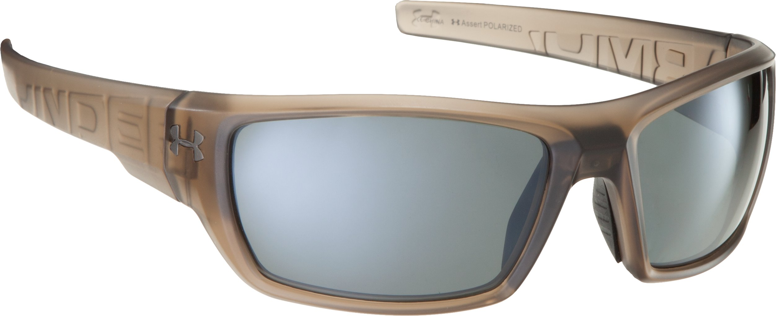 UA Assert Polarized Sunglasses, SATIN CRYSTAL BROWN, zoomed image