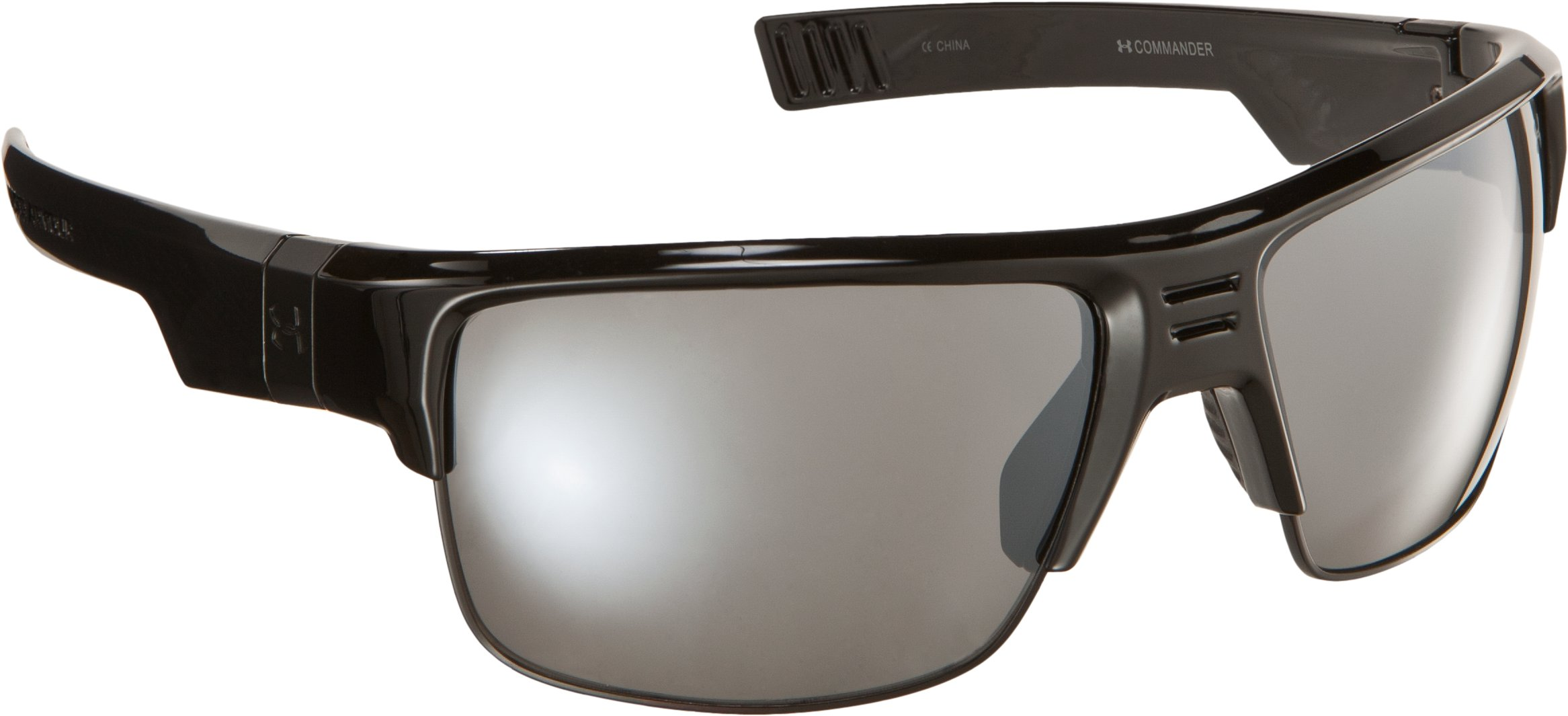 UA Commander Sunglasses, Shiny Black, zoomed image