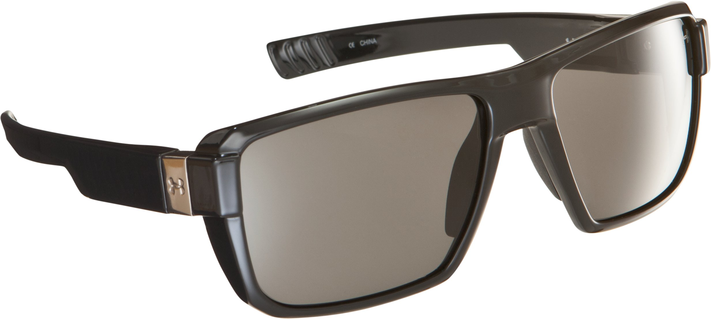 Women's UA Recon Sunglasses, Shiny Black, zoomed image