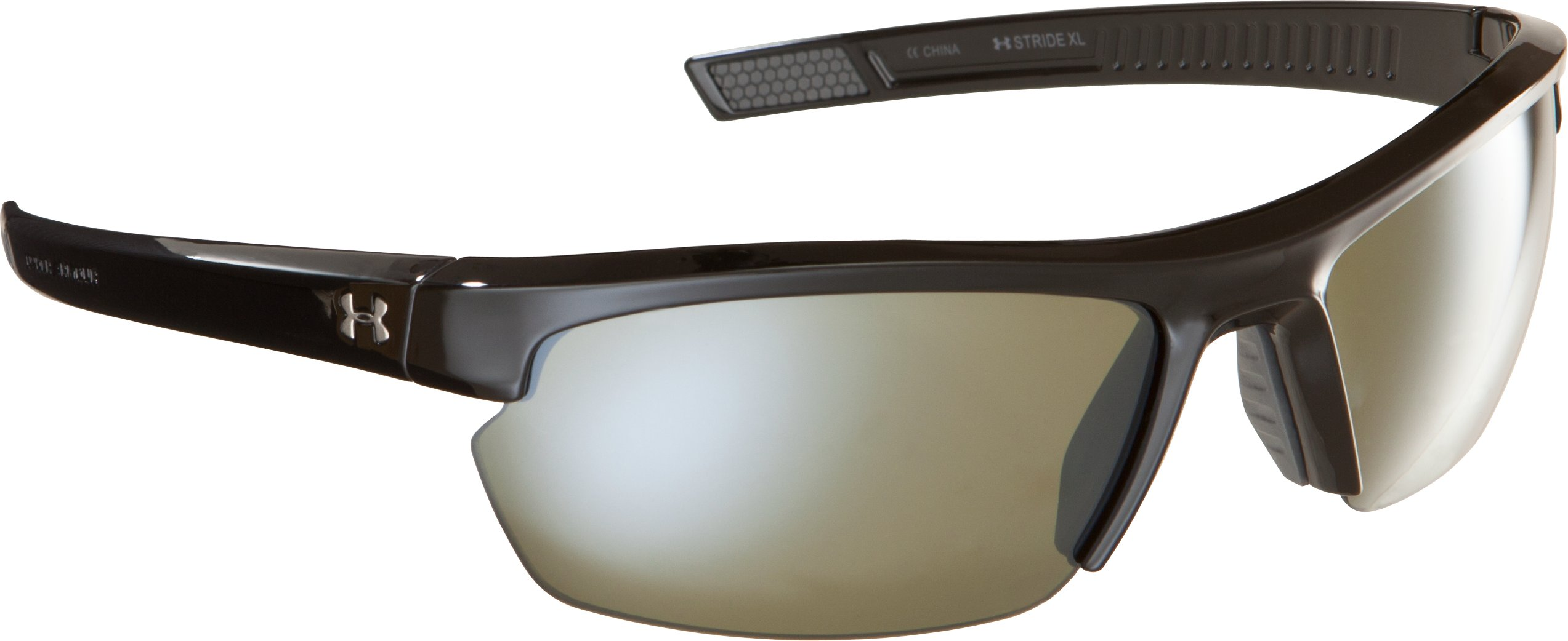 UA Stride XL Game Day Multiflection™ Sunglasses, Shiny Black