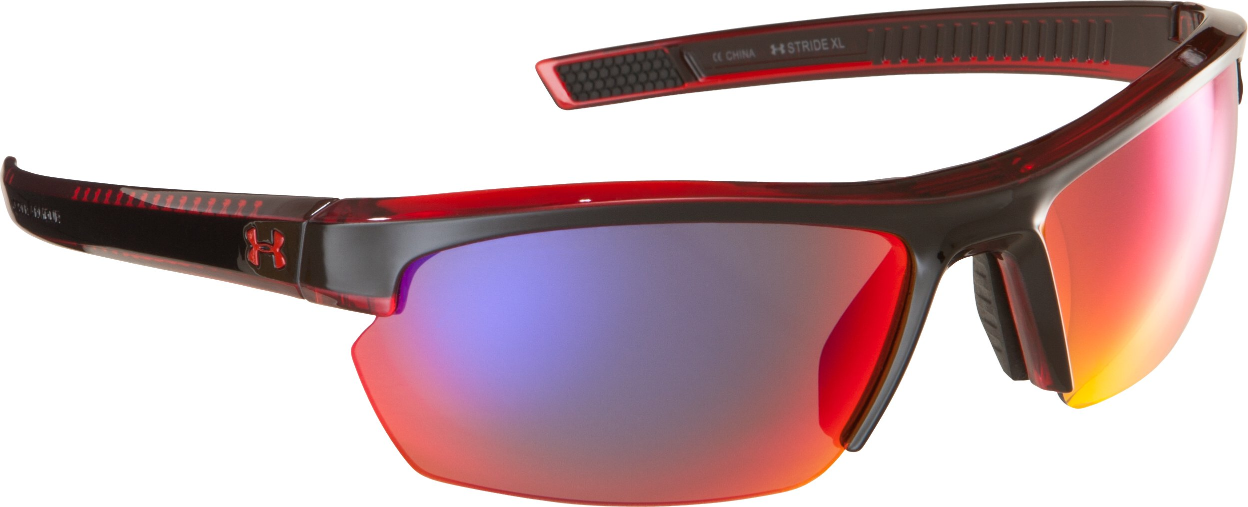 UA Stride XL Multiflection™ Sunglasses, CRYSTAL RED
