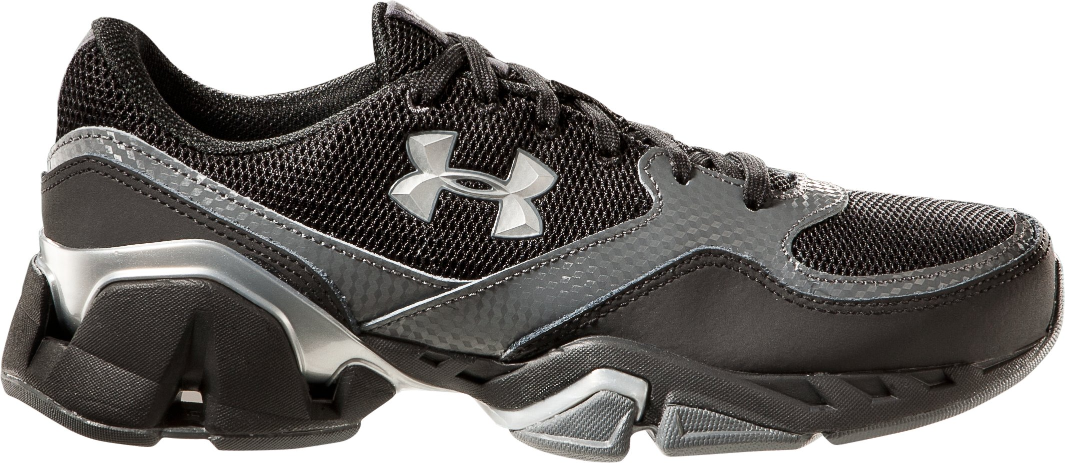 Boys' UA Strive II Grade School Training Shoes, Black , zoomed image