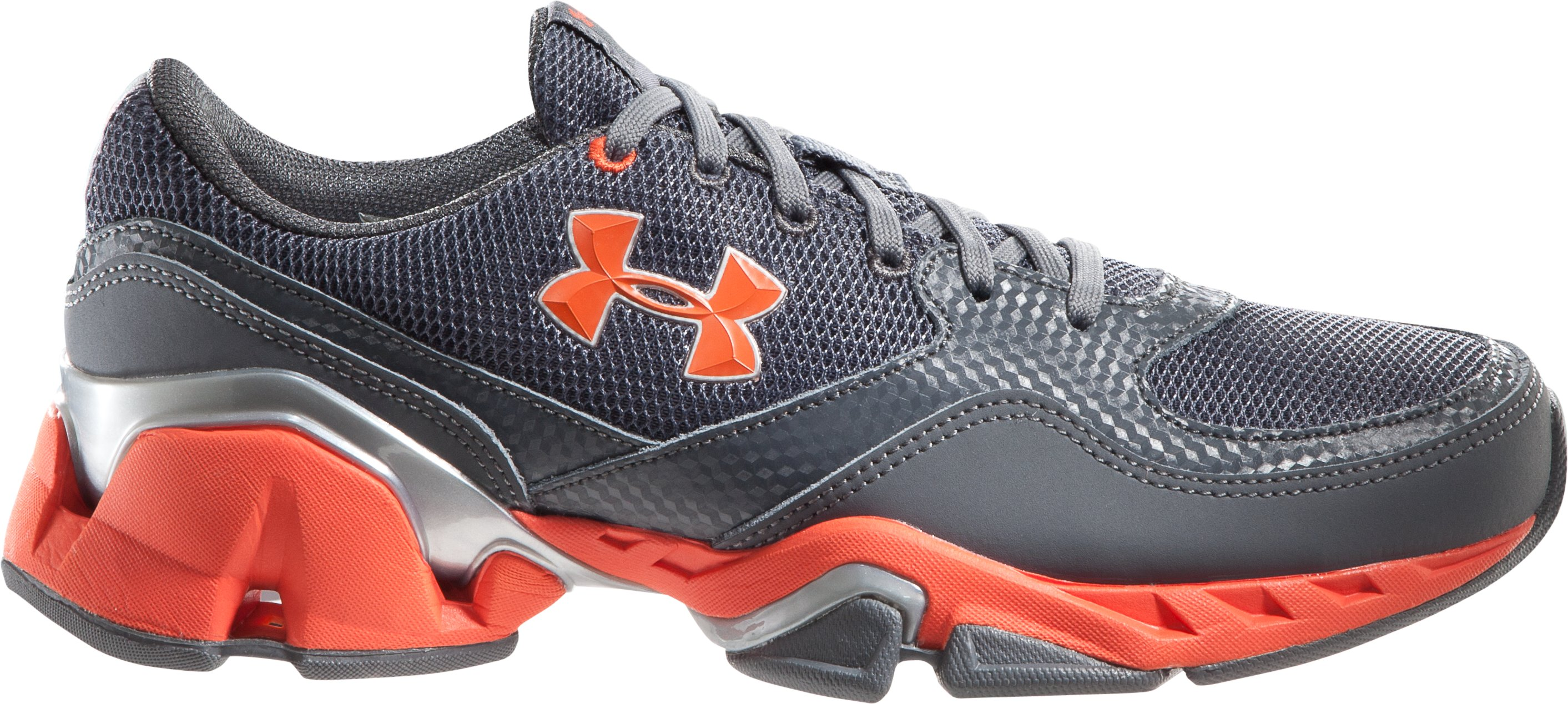Boys' UA Strive II Grade School Training Shoes, Charcoal, zoomed image