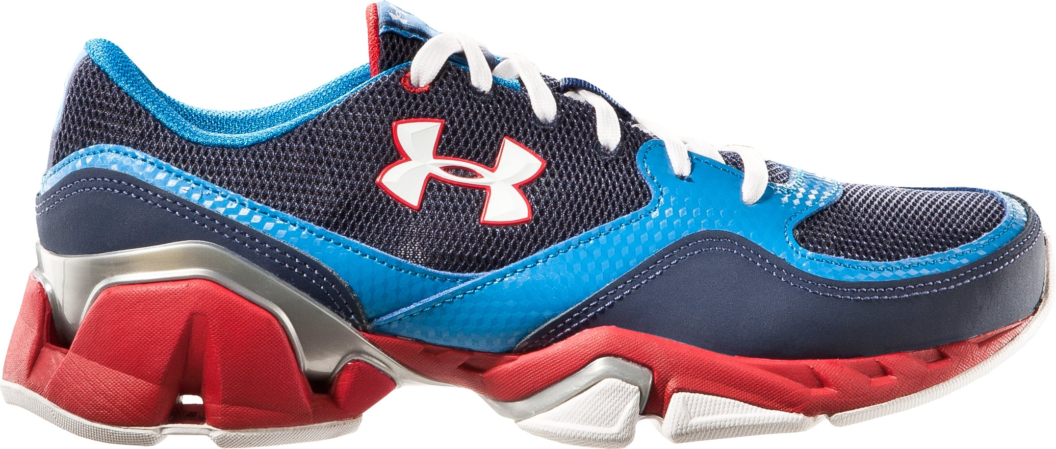 Boys' UA Strive II Grade School Training Shoes, Midnight Navy, zoomed image