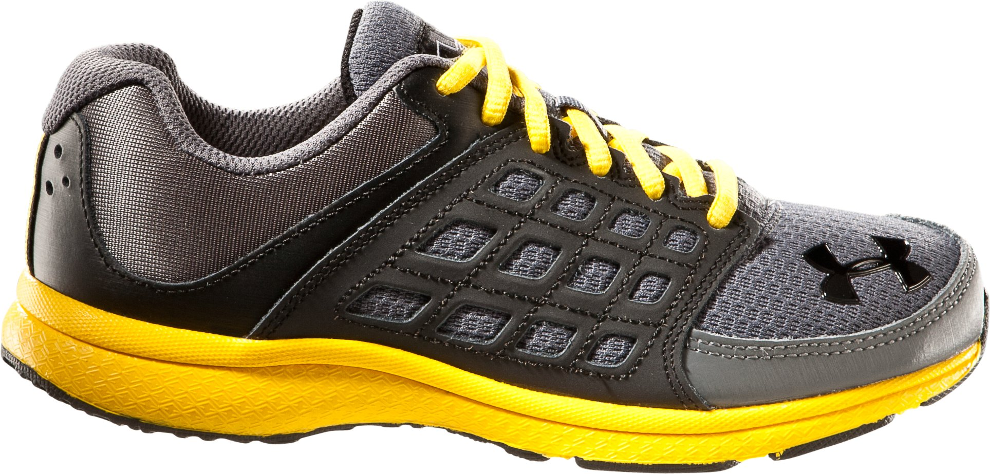 Boys' UA Connect Pre-School Running Shoes, Graphite, zoomed image