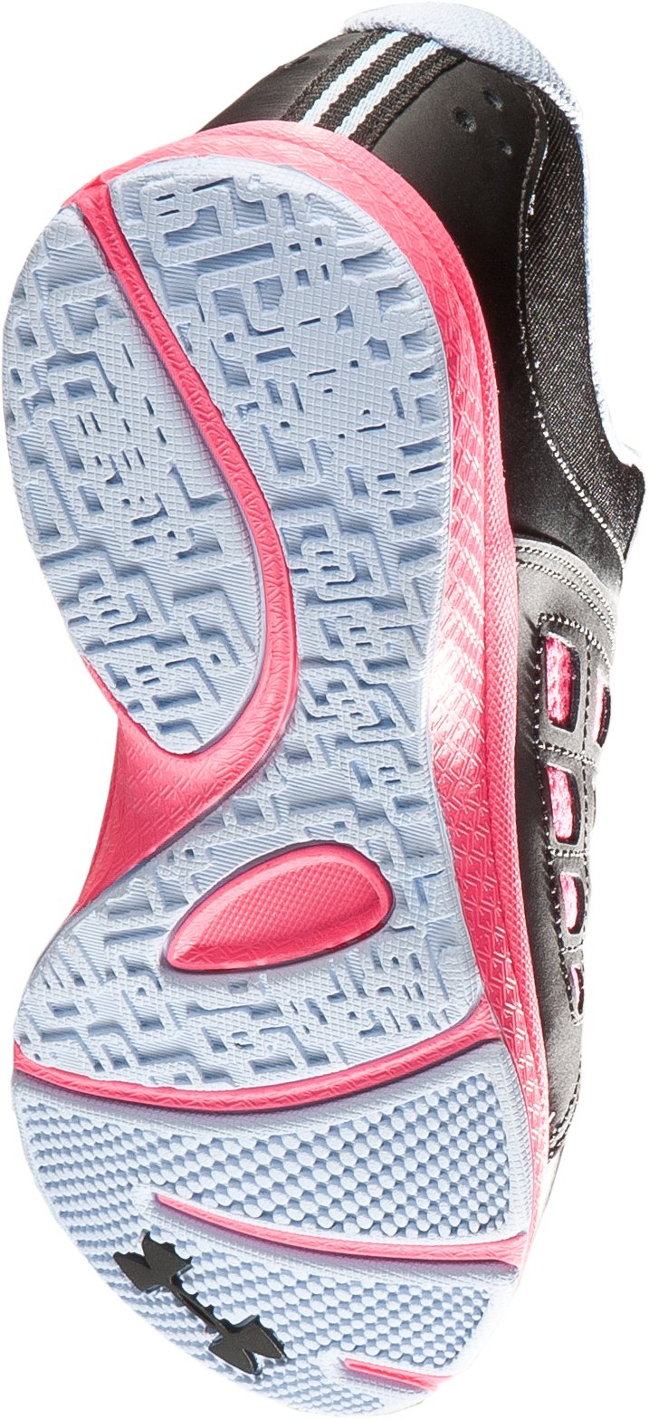 Girls' Pre-School UA Micro G® Connect Running Shoe, Black ,