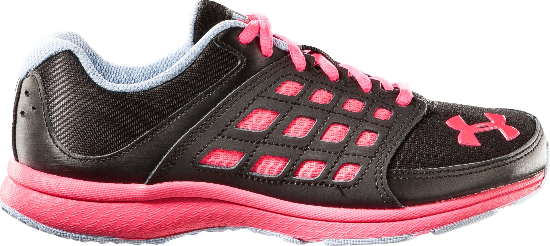 Girls' Pre-School UA Micro G® Connect Running Shoe, Black , zoomed image