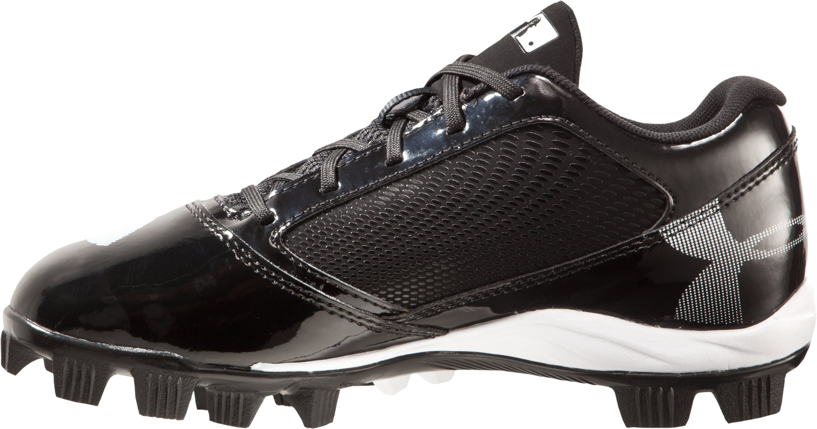 Boys' UA Yard Low RM Jr. Baseball Cleats, Black