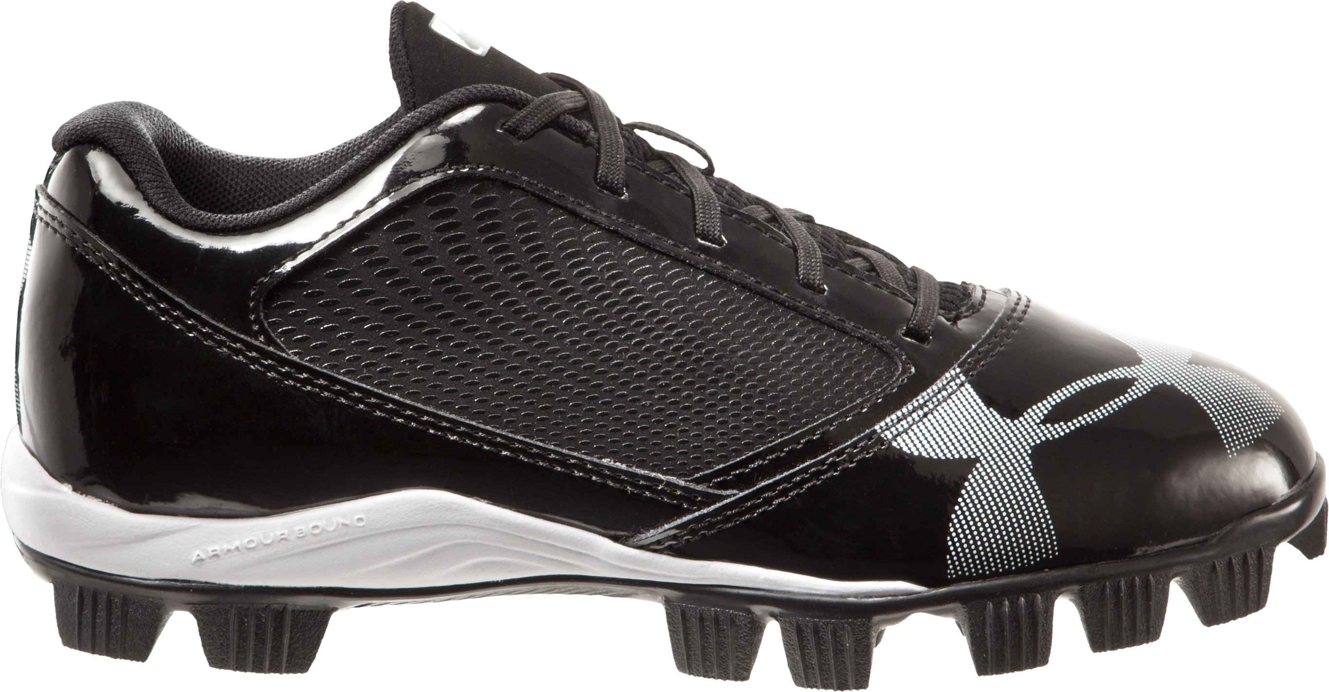 Boys' UA Yard Low RM Jr. Baseball Cleats, Black , zoomed image