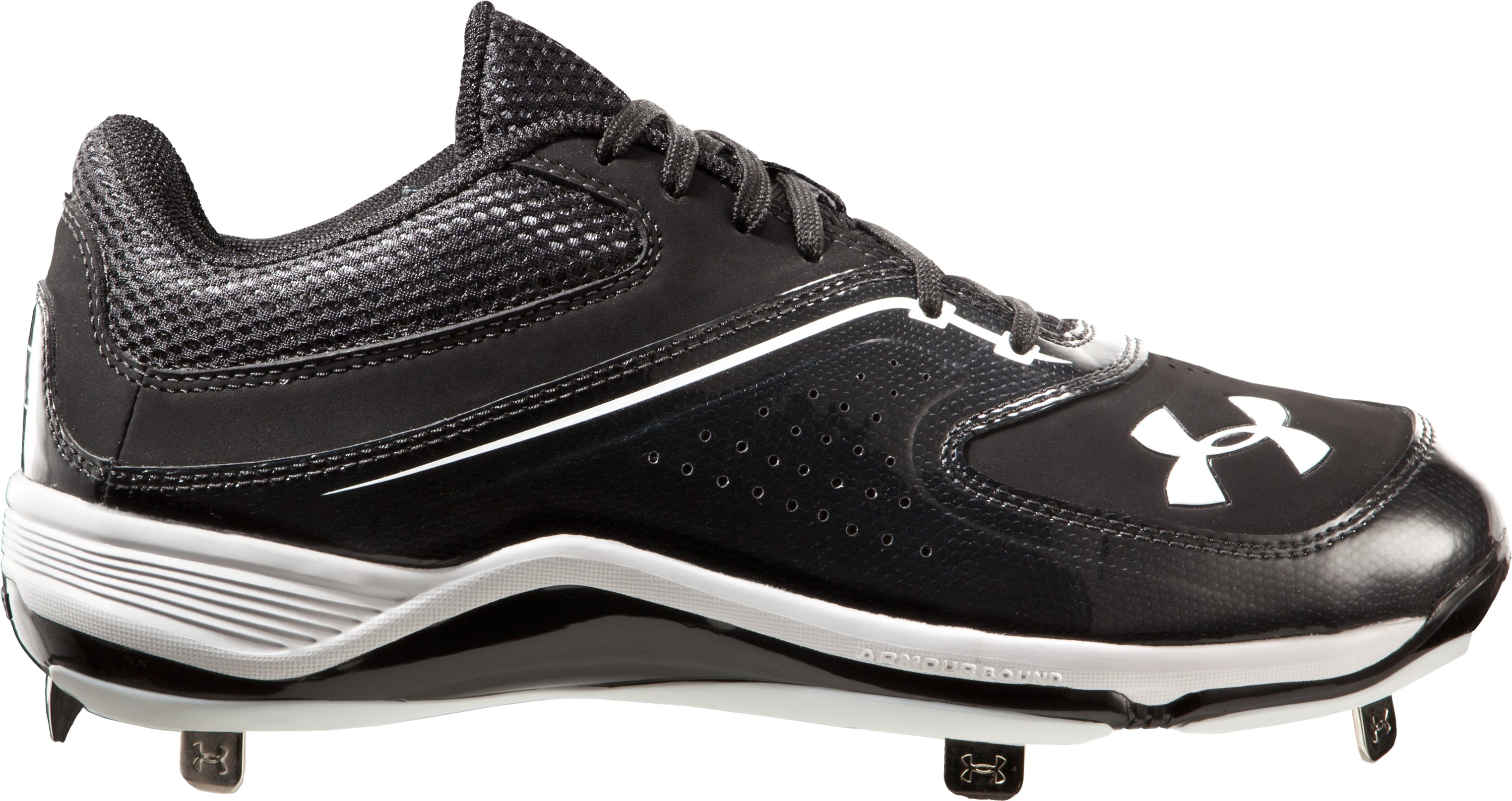 Men's UA Ignite Low ST CC Baseball Cleats, Black
