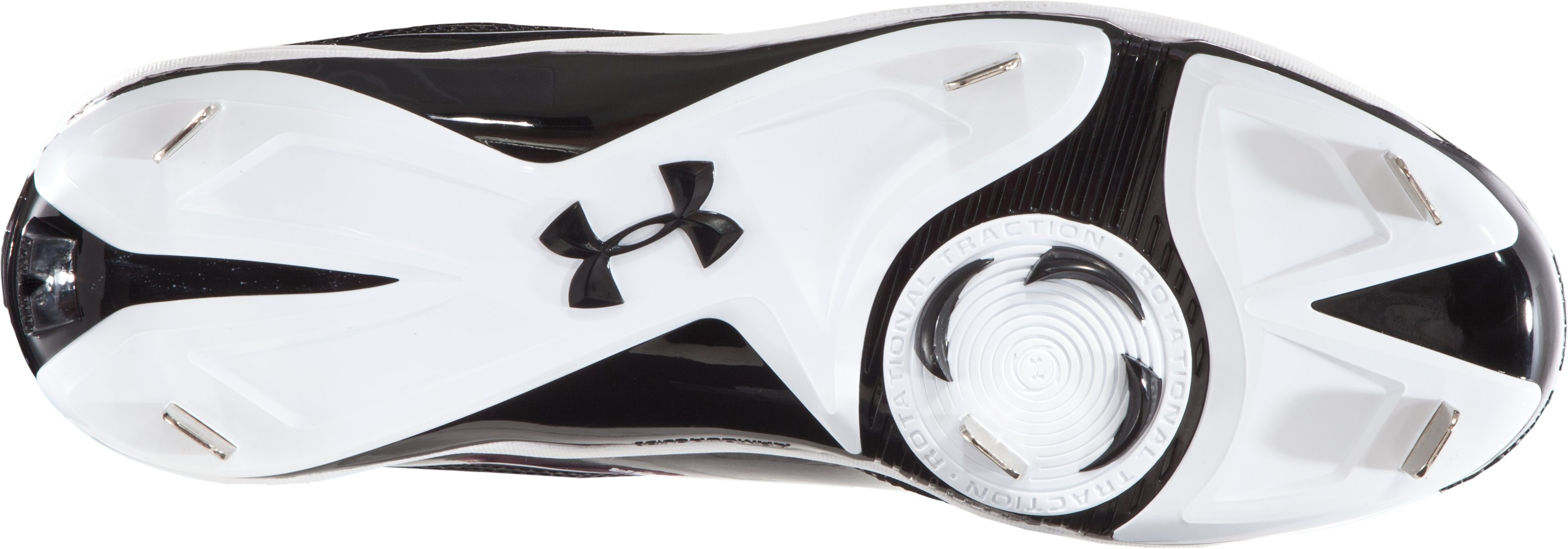 Men's UA Ignite Low ST CC Baseball Cleats, Black , undefined