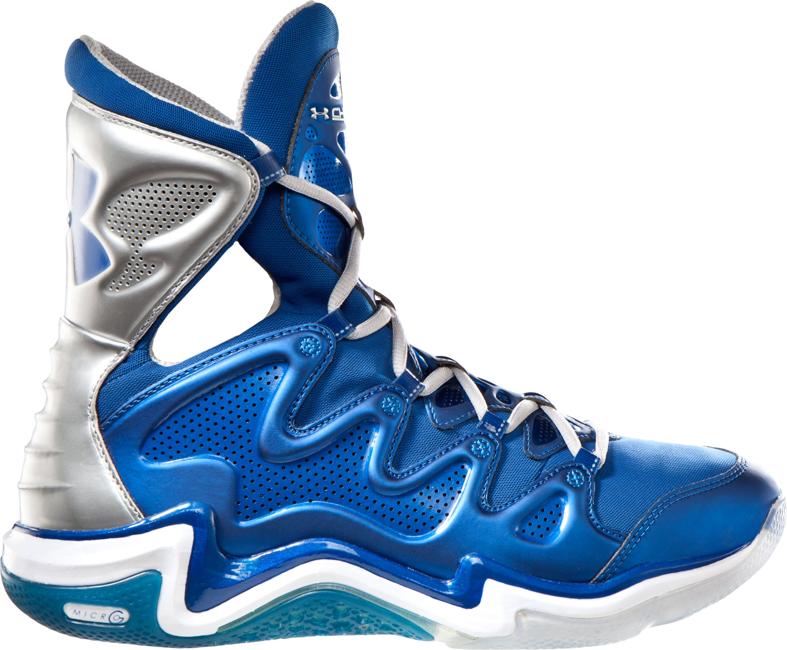 Men's UA Charge BB Basketball Shoes, EMPIRE BLUE, zoomed image