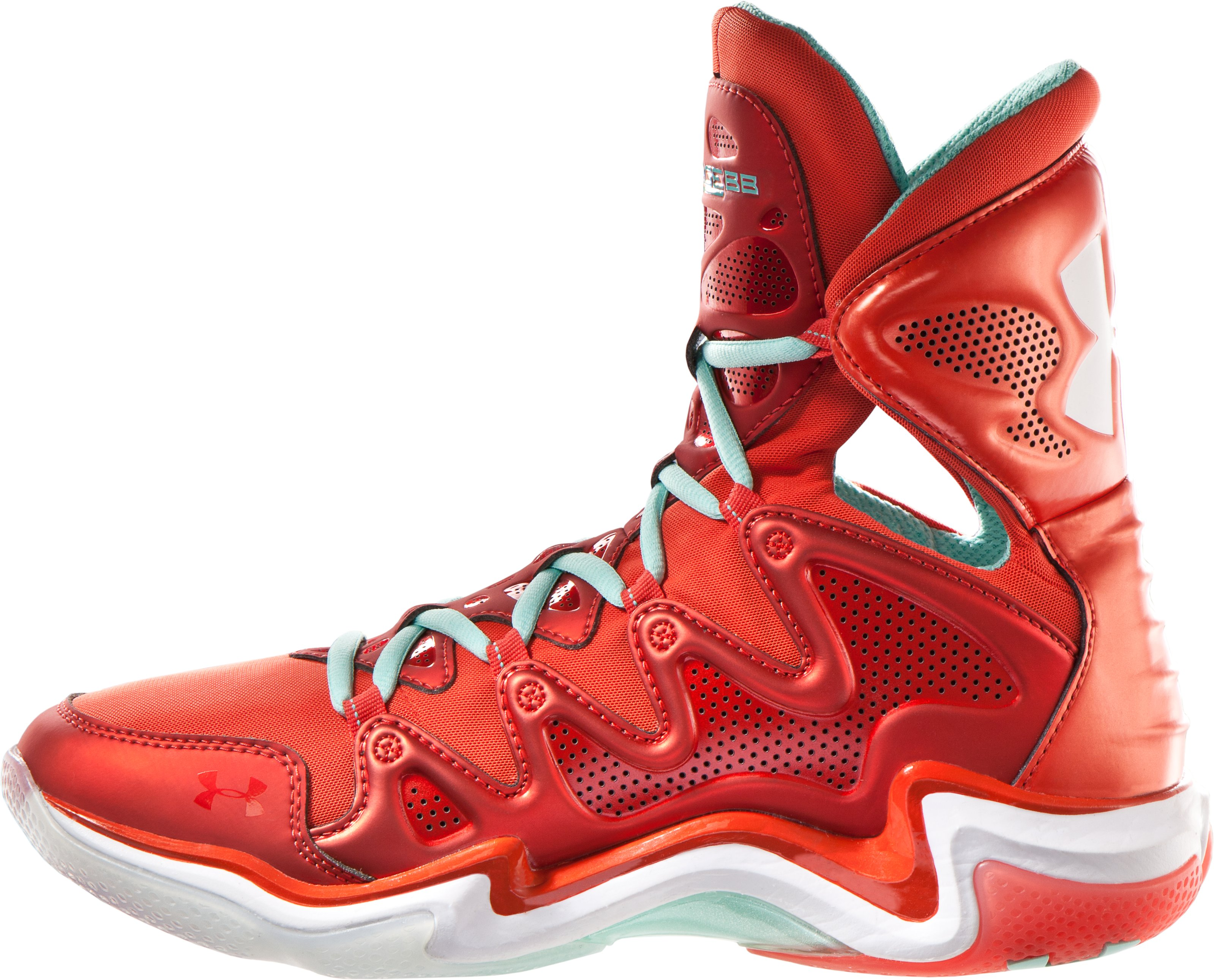 Men's UA Charge BB Basketball Shoes, Fuego, undefined