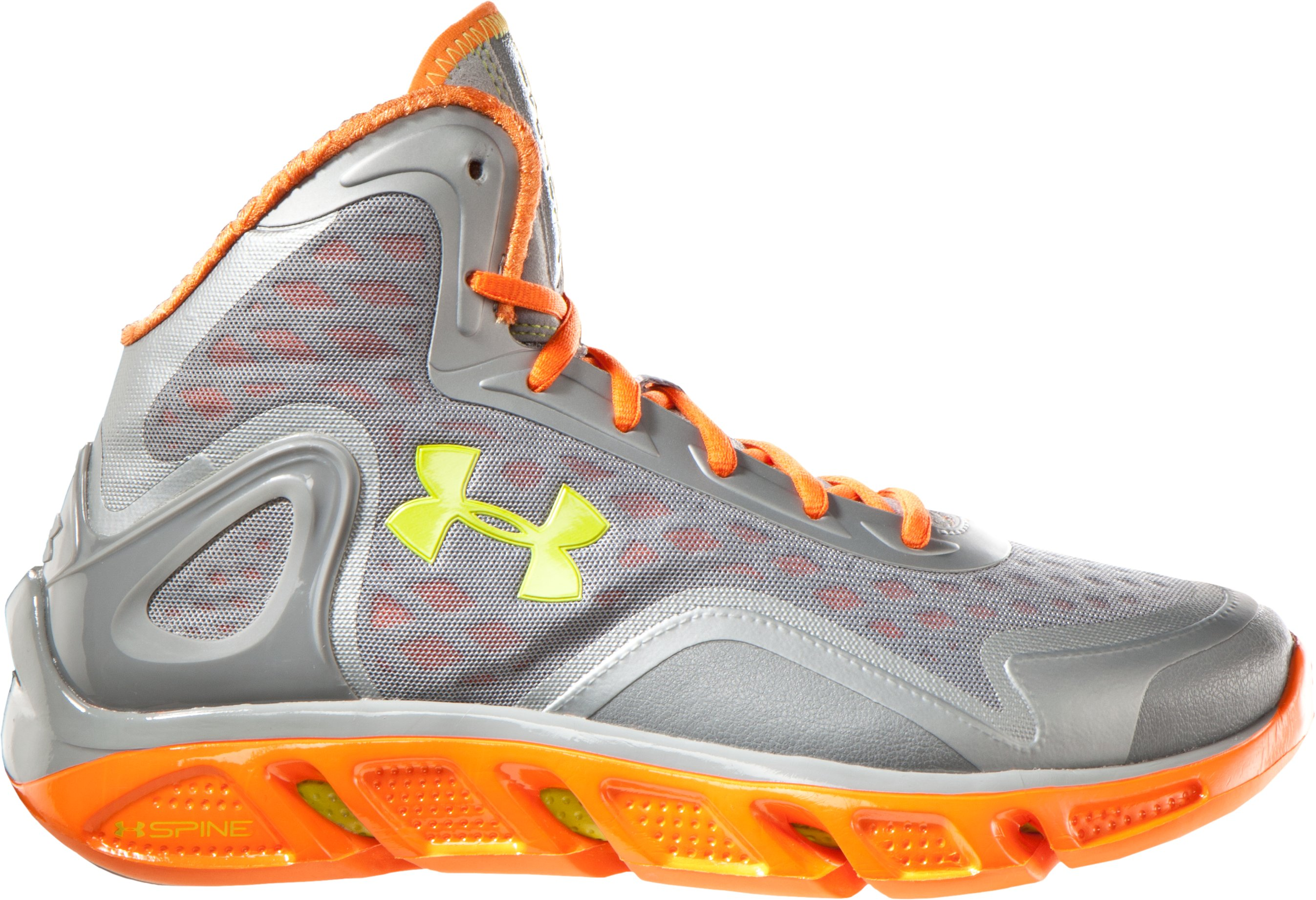 Men's UA Spine™ Bionic Basketball Shoes, Steel, zoomed image
