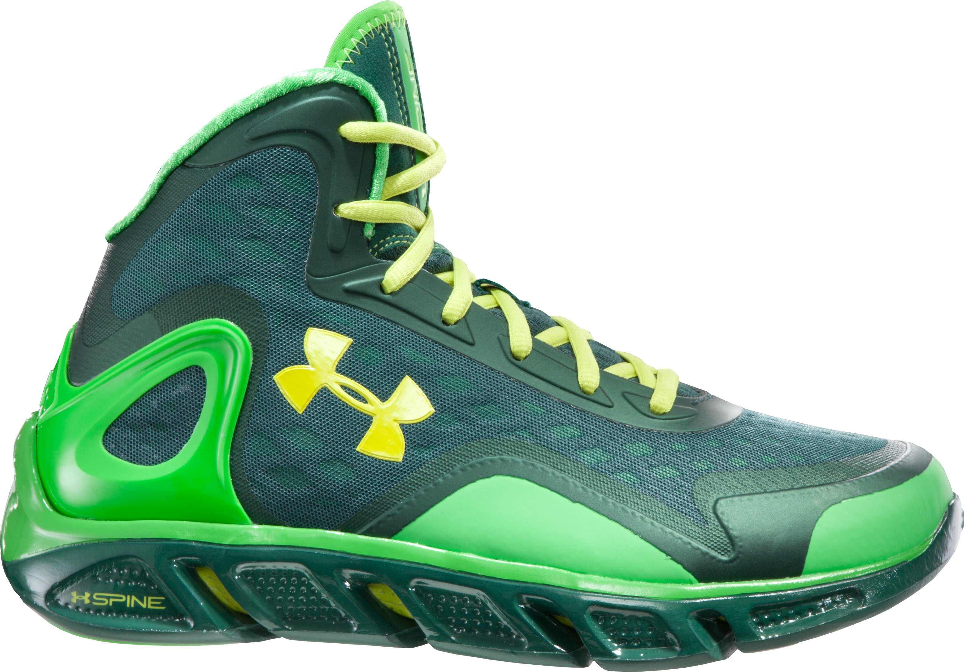 Men's UA Spine™ Bionic Basketball Shoes, PARROT GREEN
