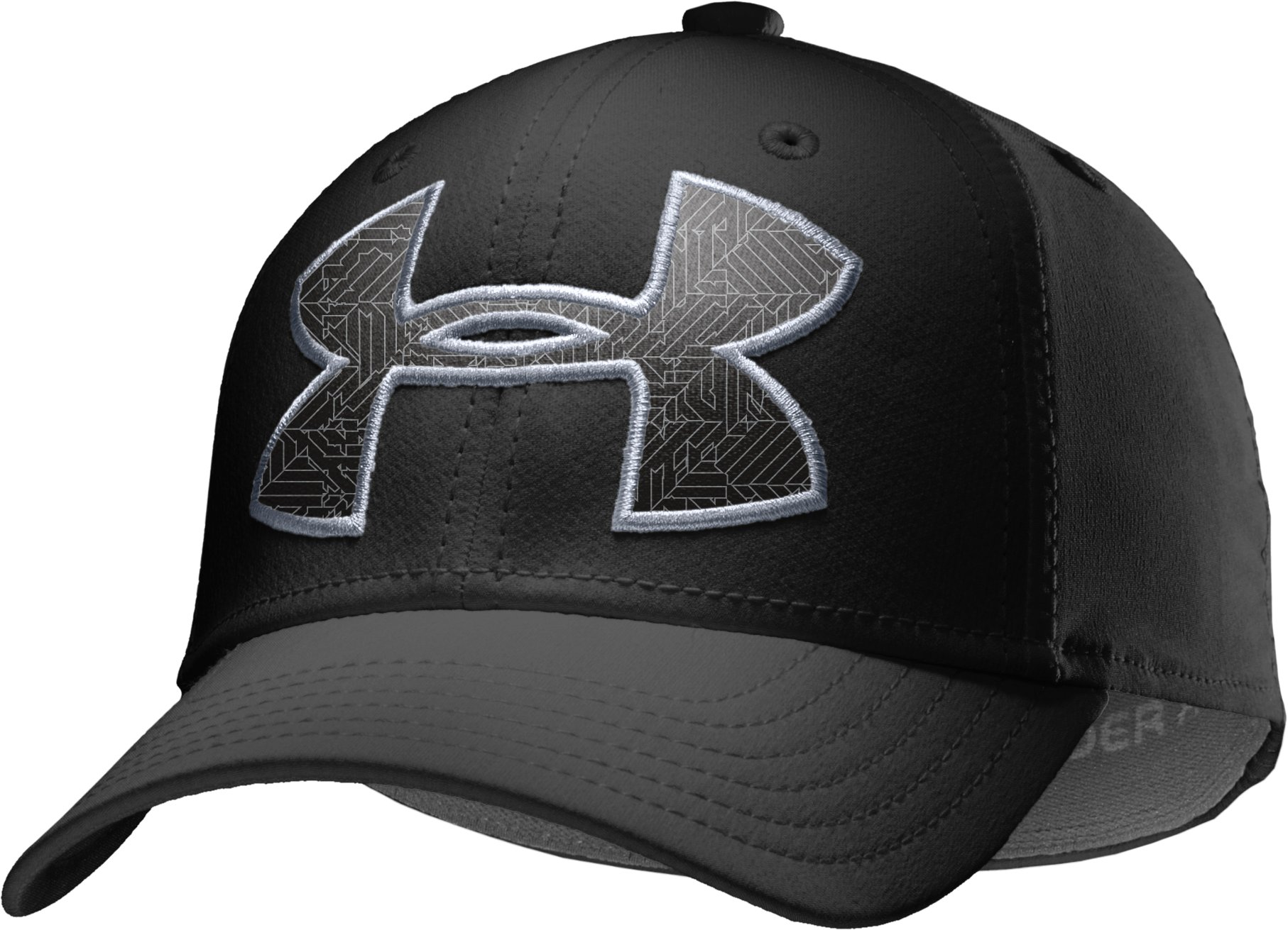 Boys' UA Big Logo Stretch Cap, Black