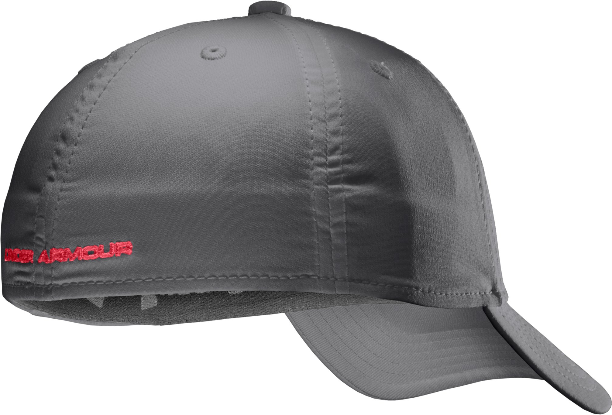 Boys' UA Big Logo Stretch Cap, Graphite, undefined