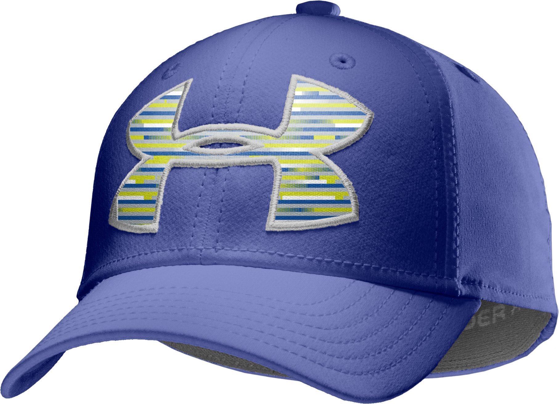 Boys' UA Big Logo Stretch Cap, Royal, zoomed image