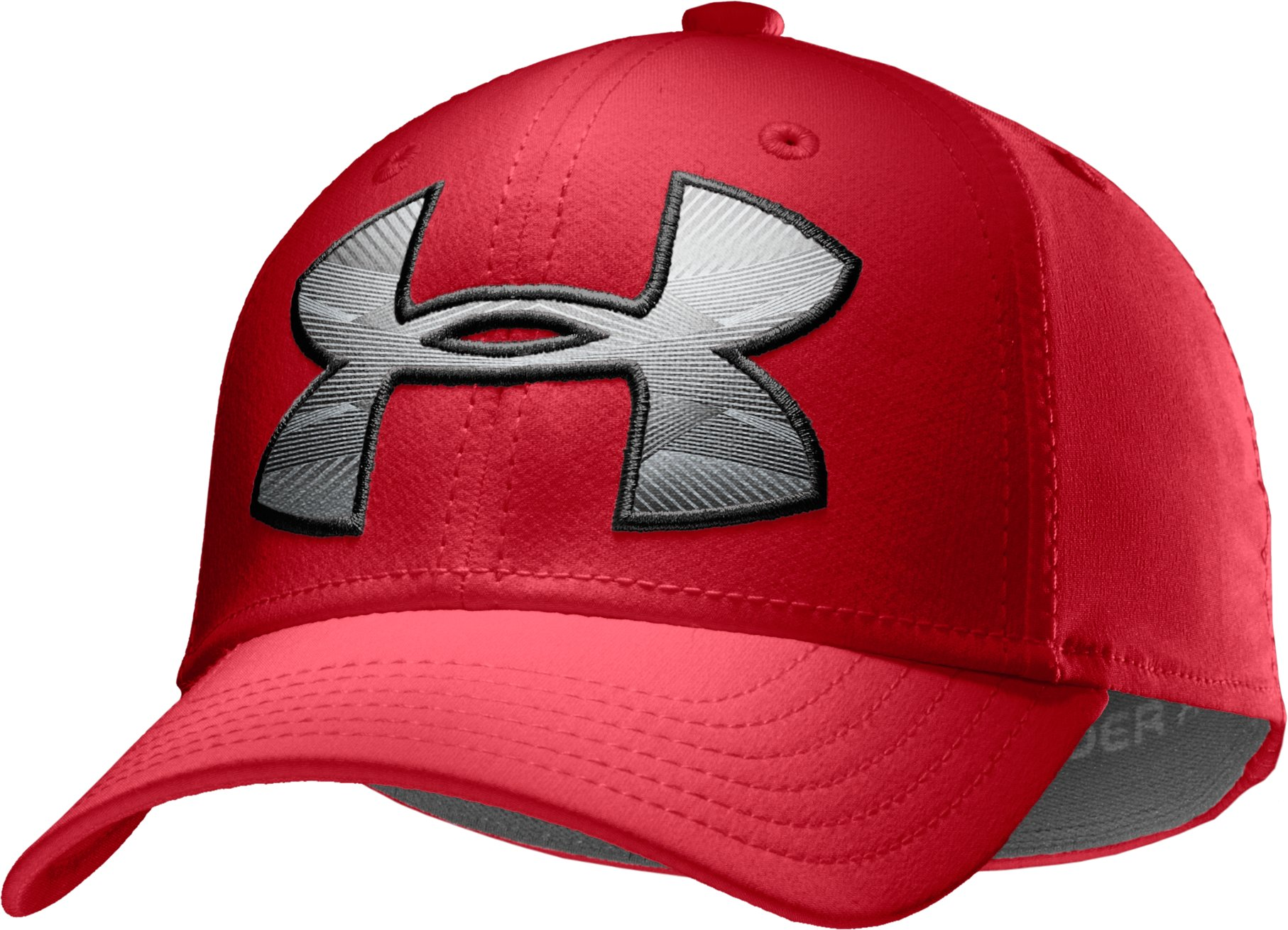 Boys' UA Big Logo Stretch Cap, Red, zoomed image