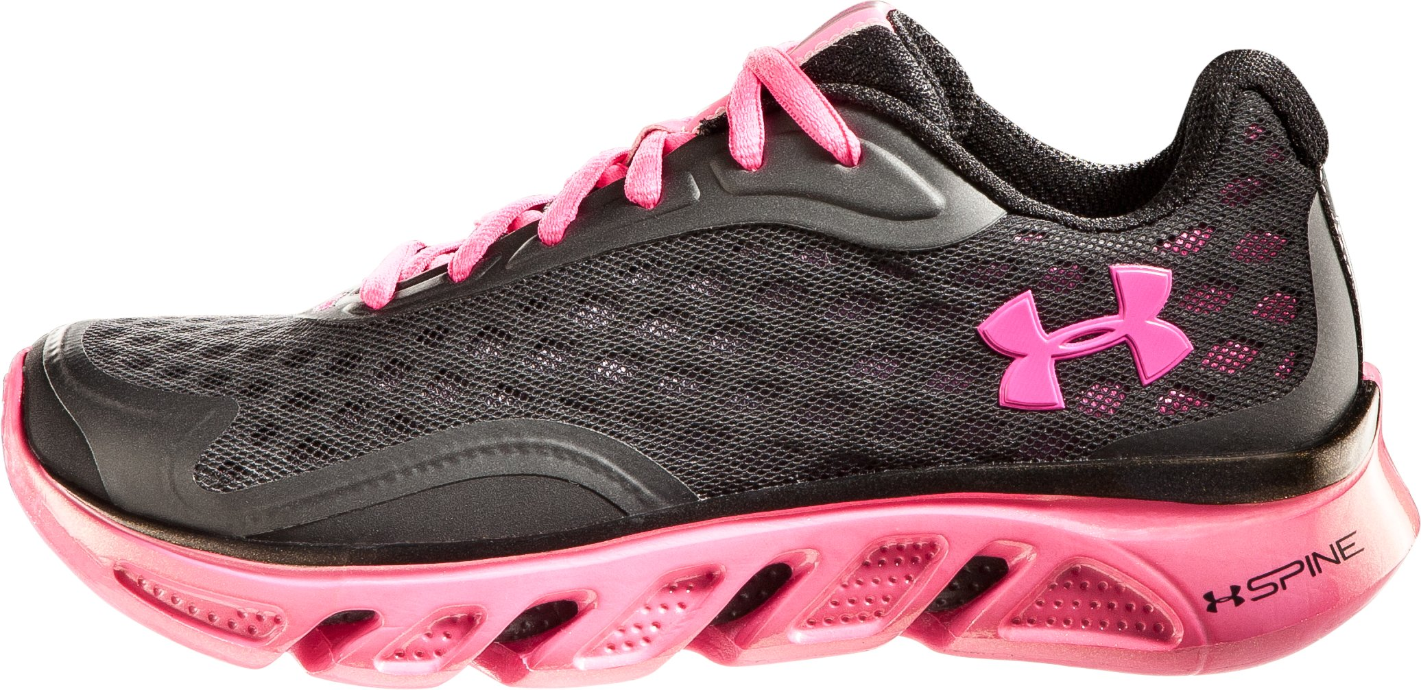 Girls' UA Spine RPM Grade School Running Shoes, Black